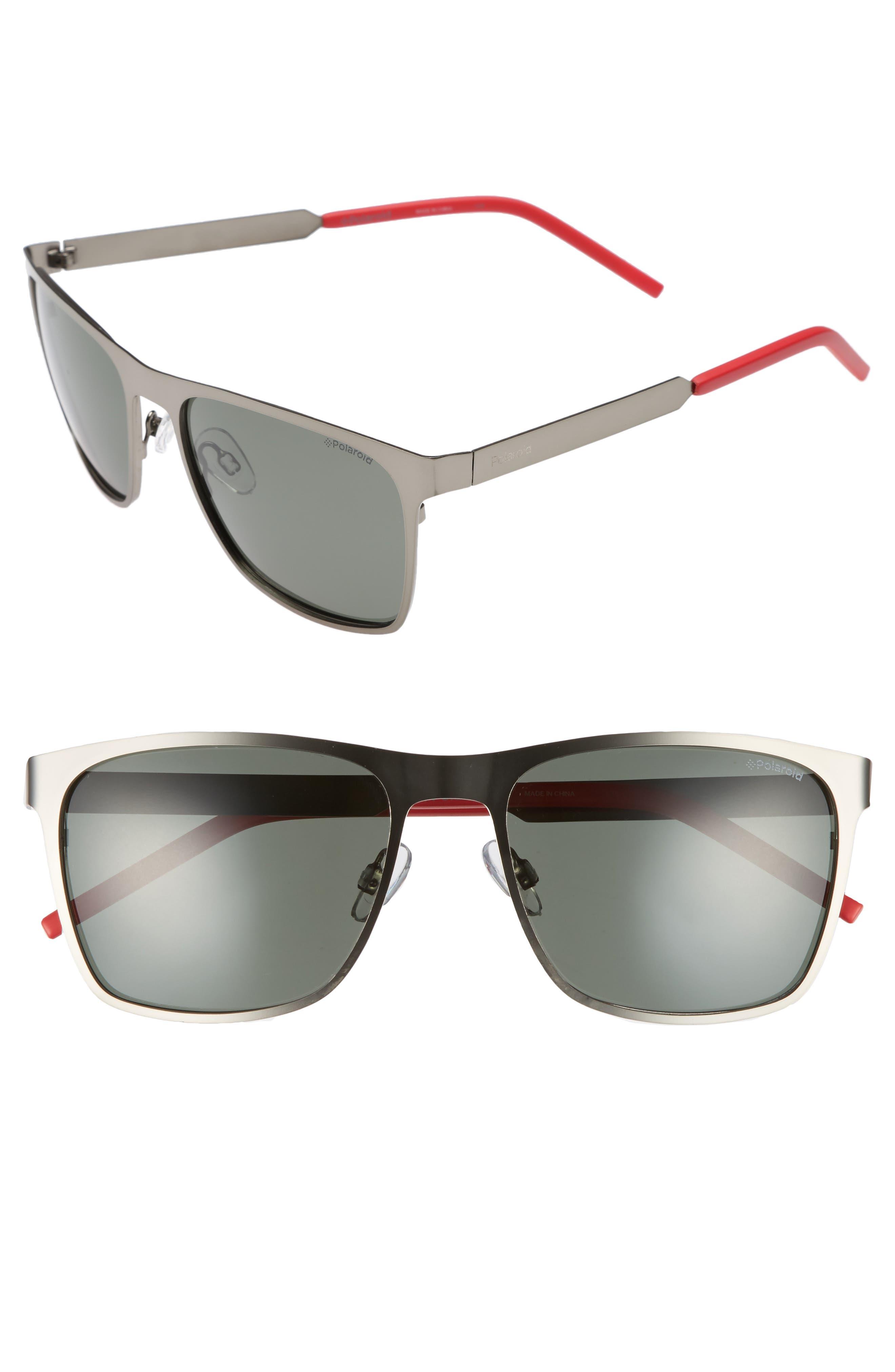 Polaroid 57mm Polarized Sunglasses,                             Main thumbnail 1, color,                             001