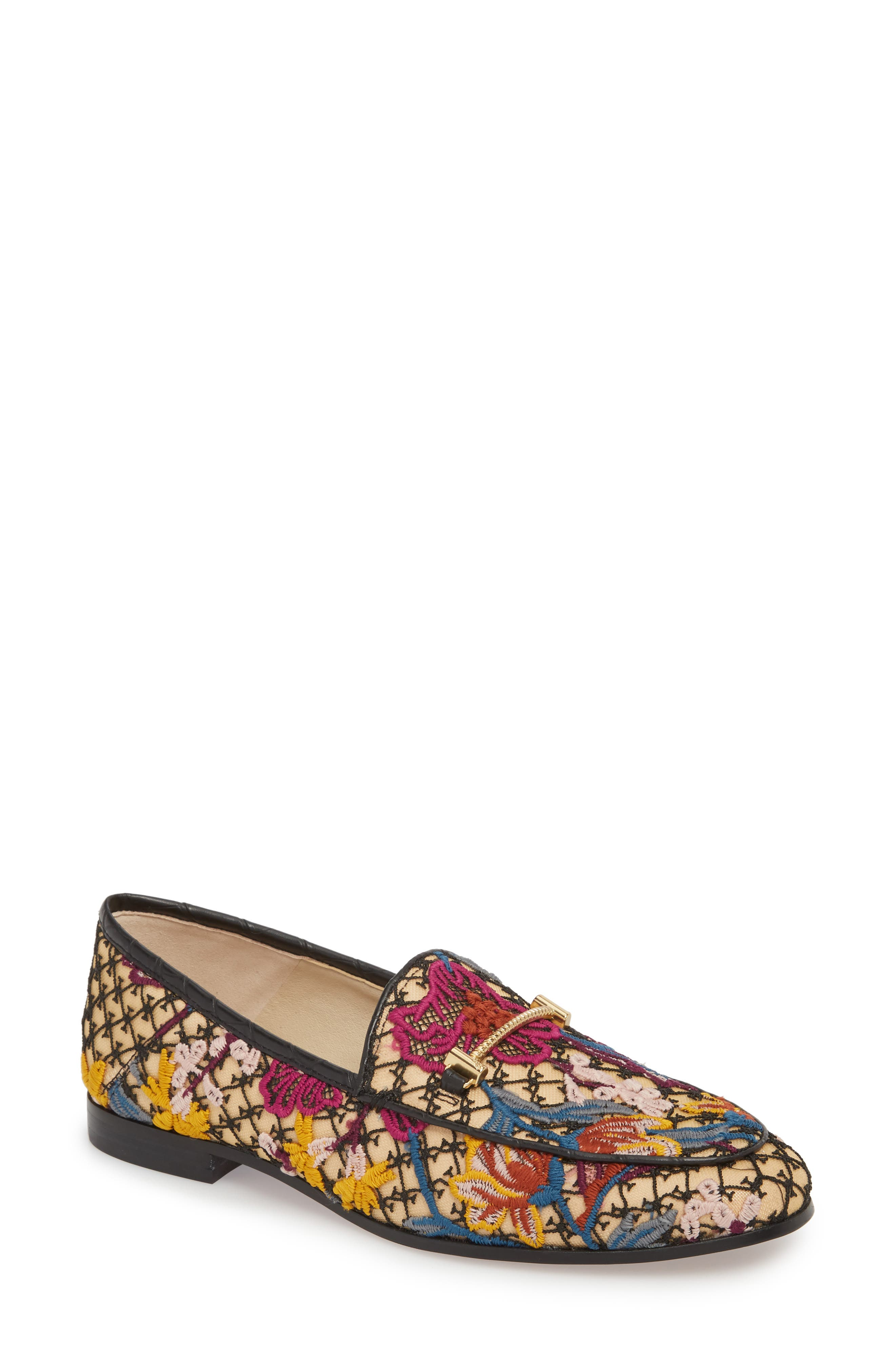 Lior Loafer,                             Main thumbnail 1, color,                             BRIGHT MULTI FLORAL LACE