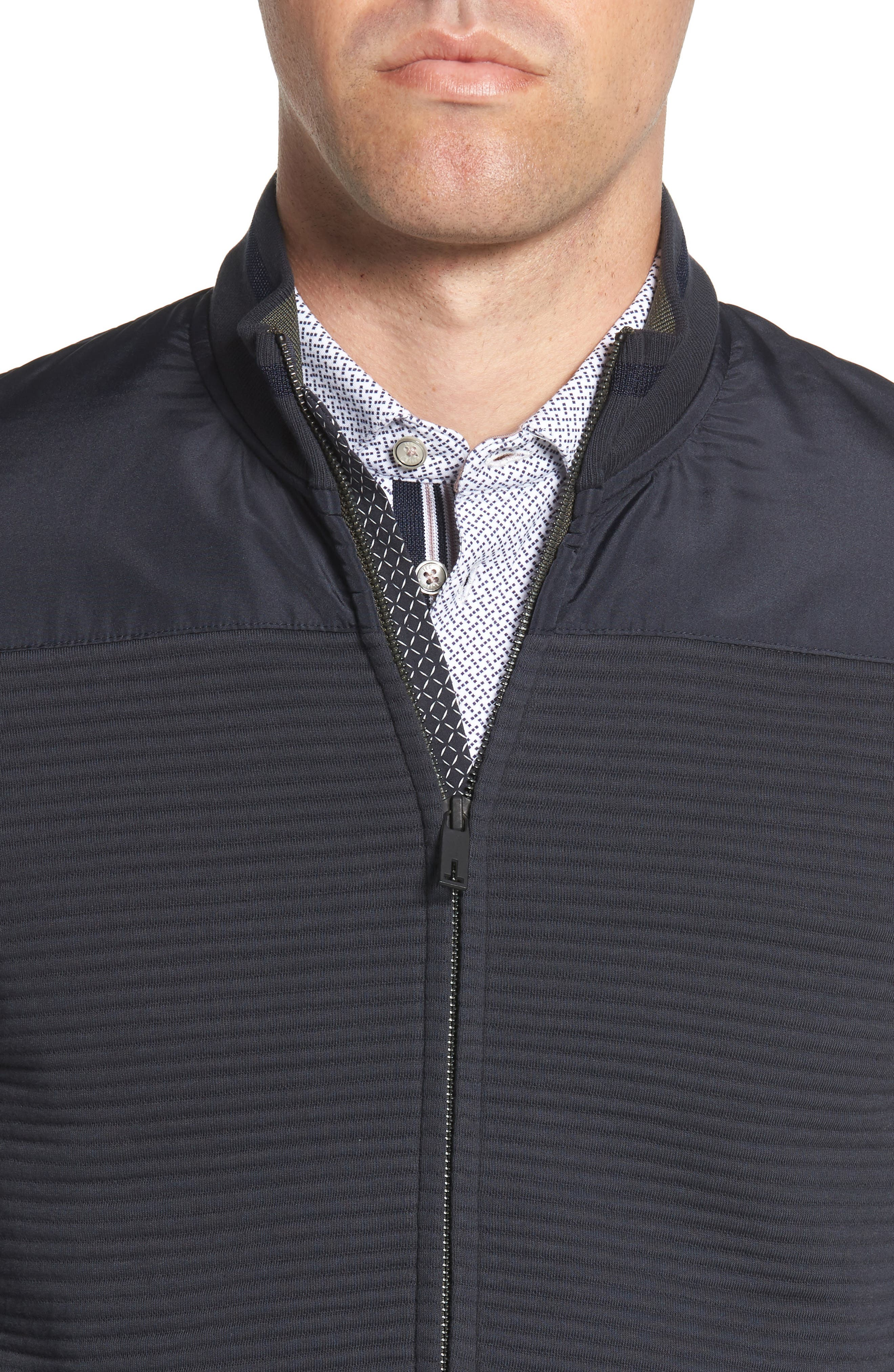 Sardin Quilted Jacket,                             Alternate thumbnail 4, color,                             NAVY