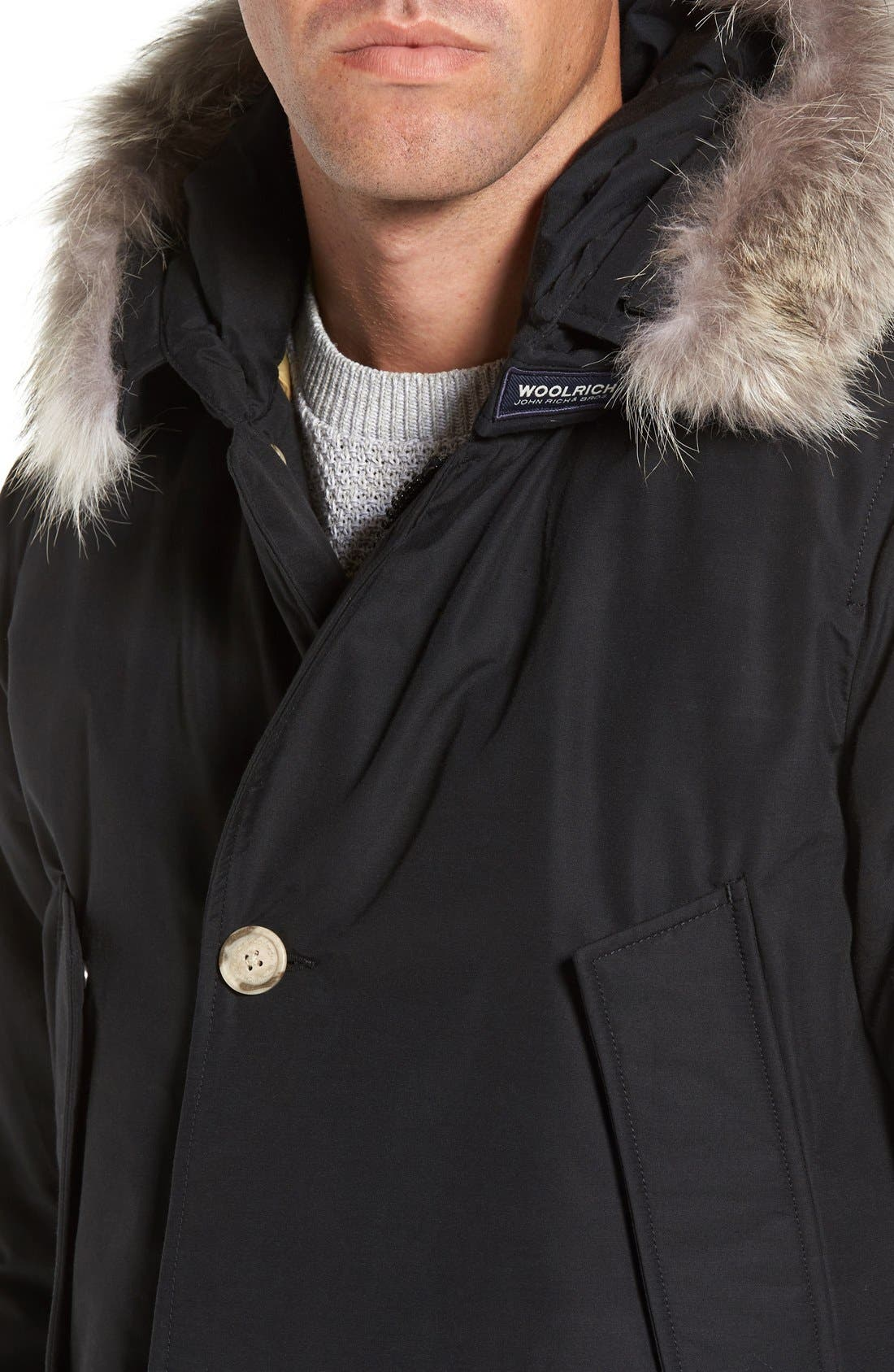 John Rich & Bros. Arctic Parka with Genuine Coyote Fur Trim,                             Alternate thumbnail 13, color,