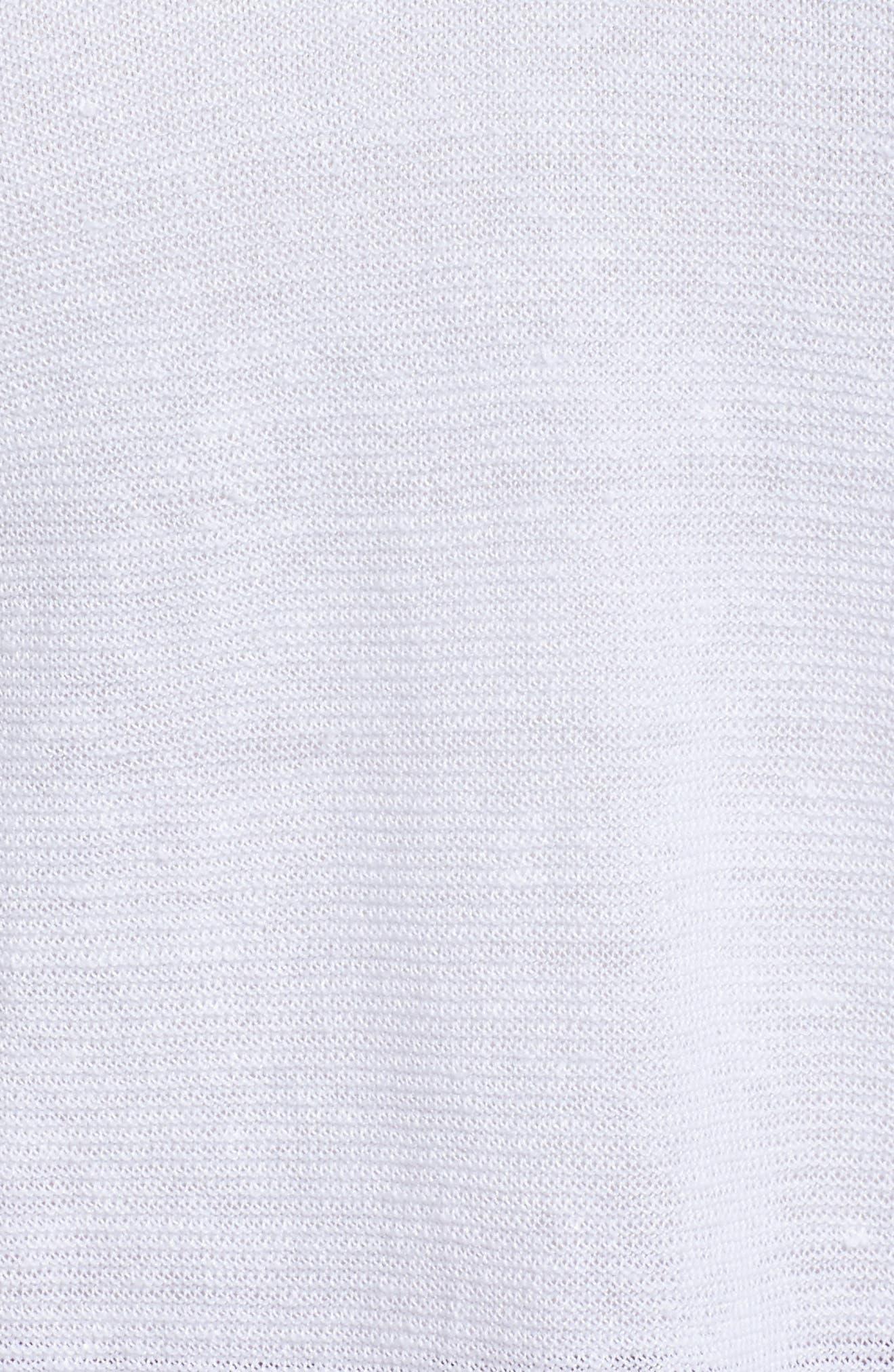 V-Neck Organic Linen Top,                             Alternate thumbnail 26, color,