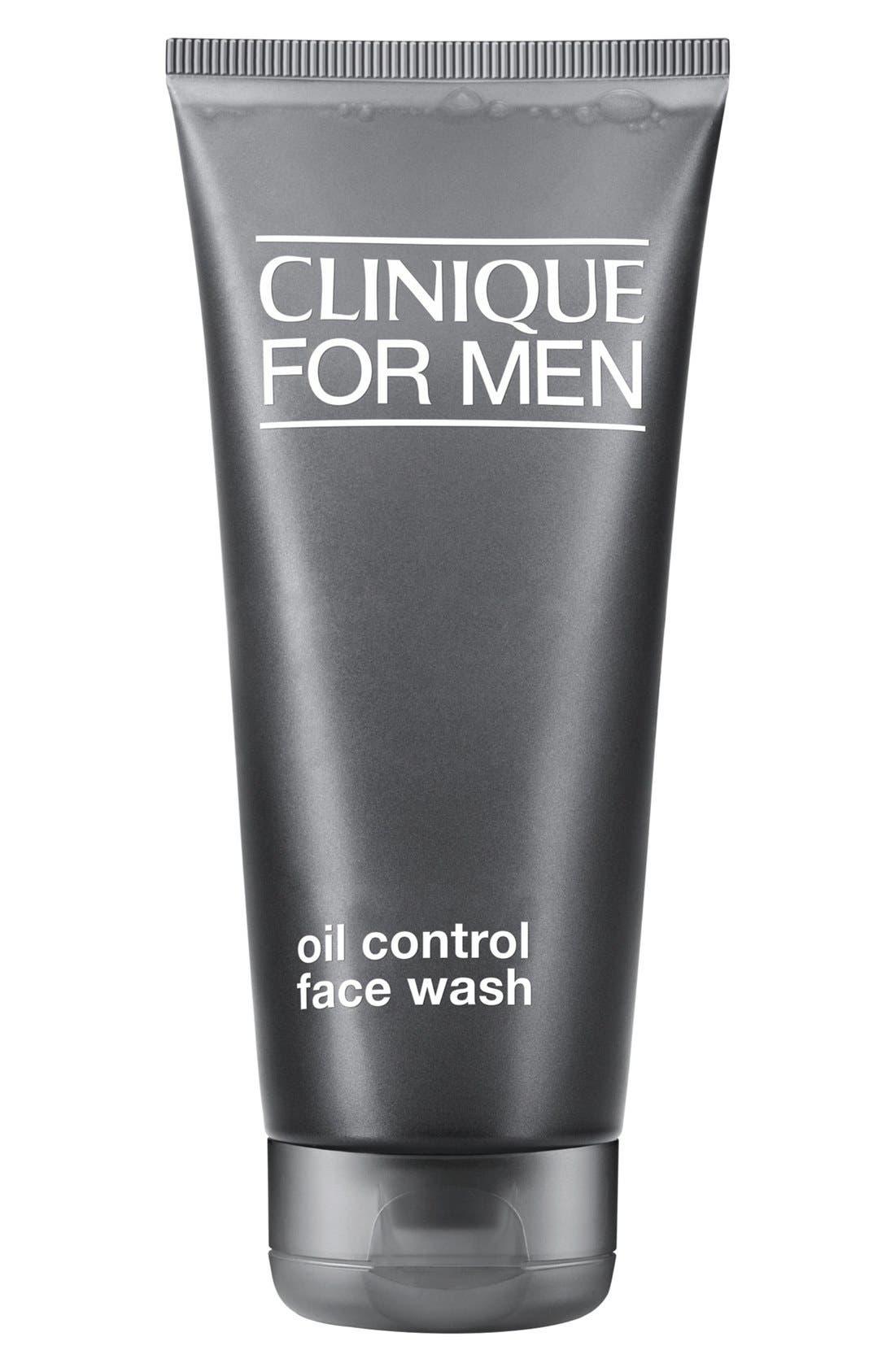 for Men Oil Control Face Wash,                             Main thumbnail 1, color,                             000