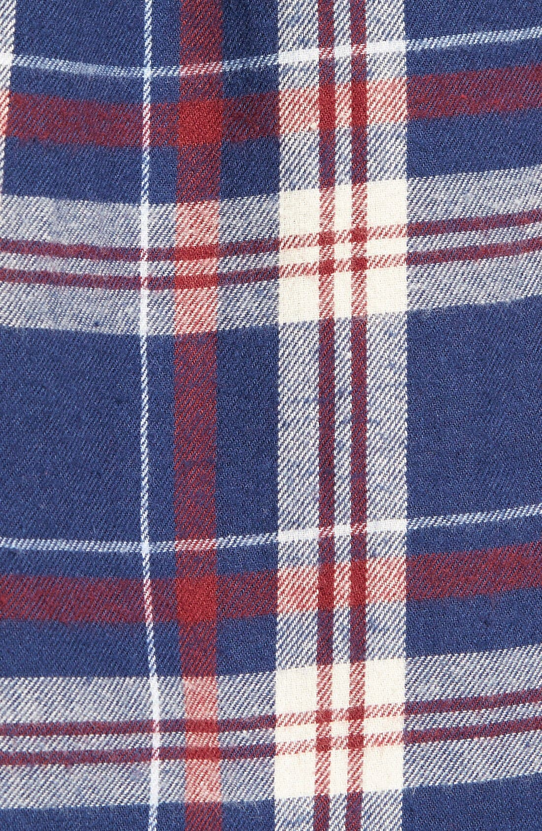 Plaid Cotton Western Shirt,                             Alternate thumbnail 3, color,                             404