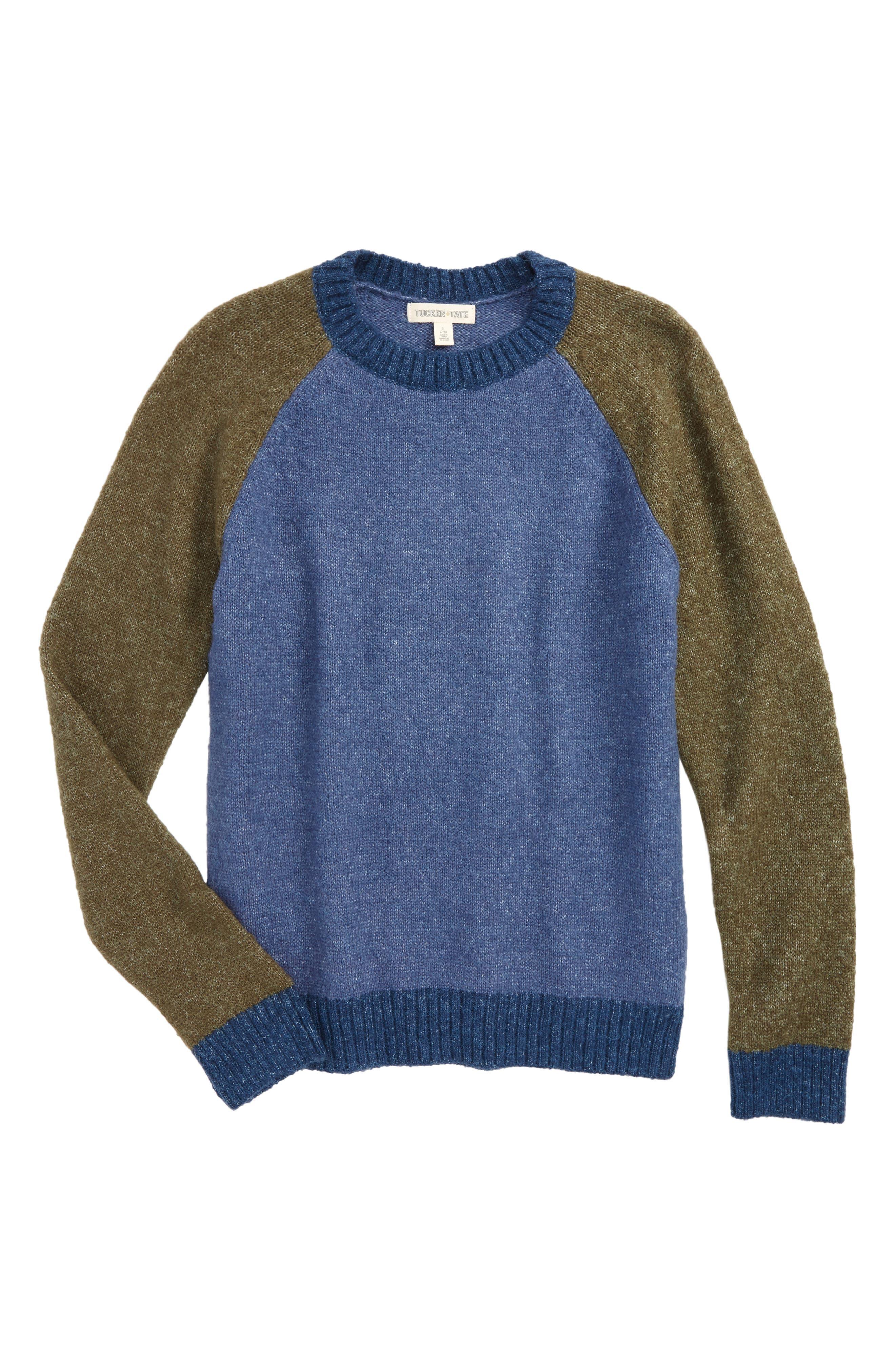 Colorblock Knit Sweater,                         Main,                         color, 420