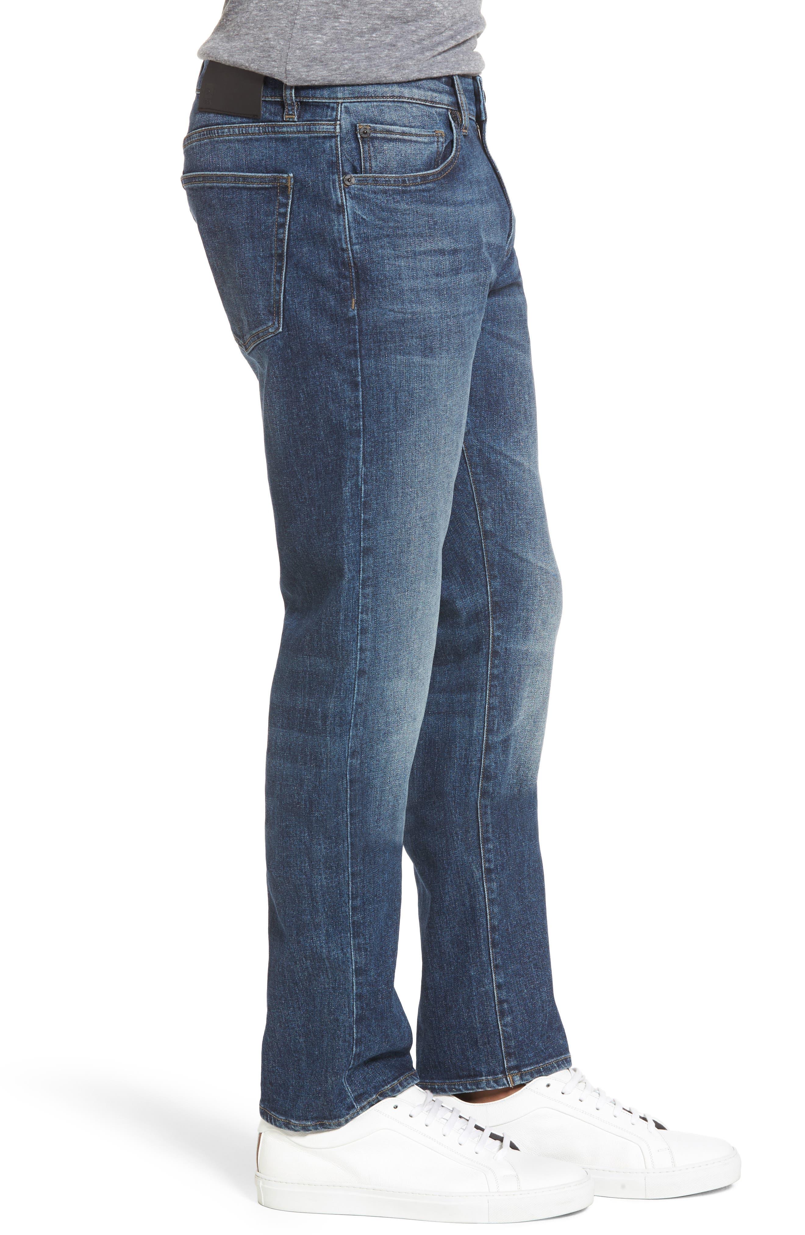 Russell Slim Straight Leg Jeans,                             Alternate thumbnail 3, color,                             405