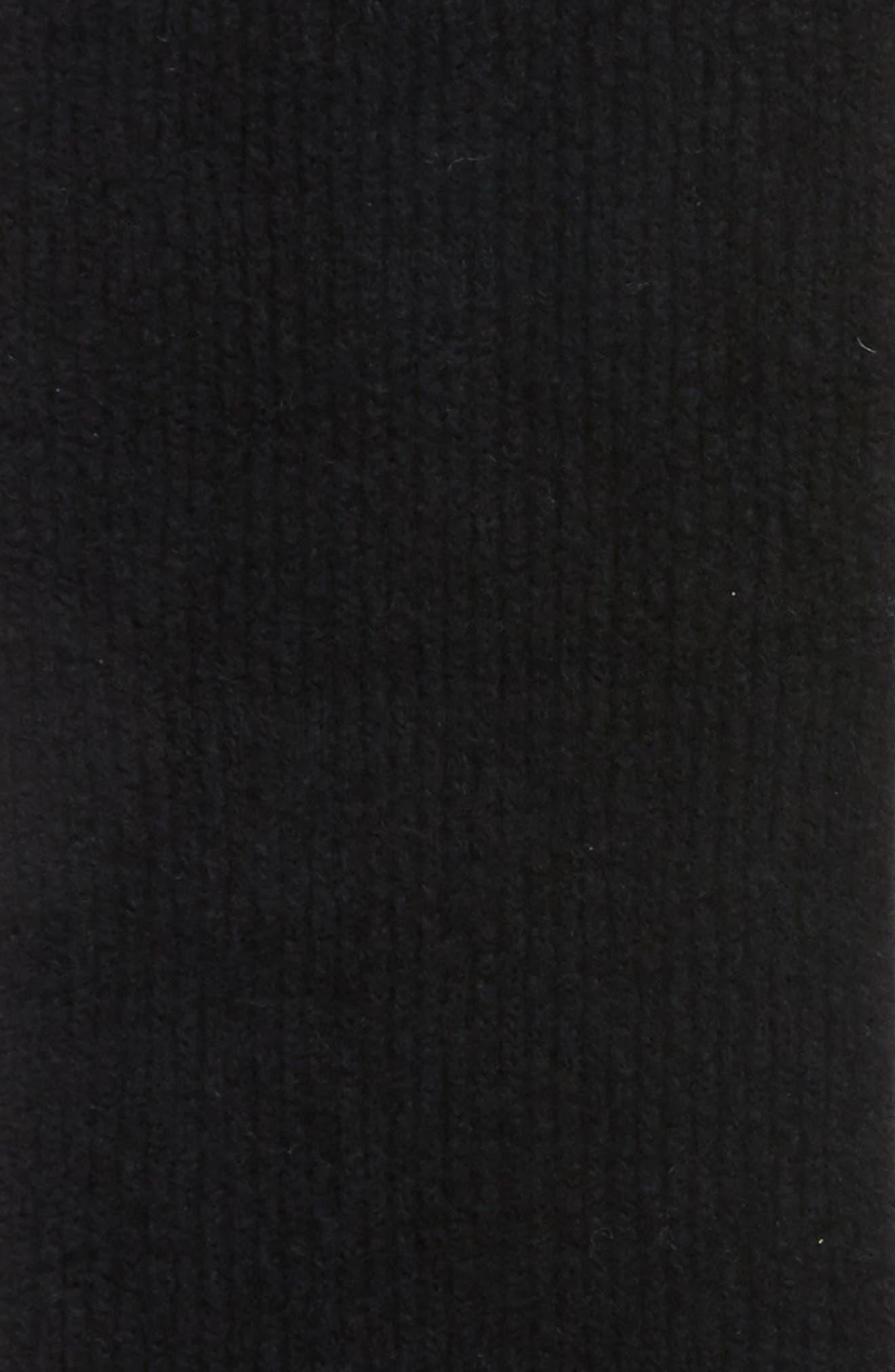 Francie Bouclé Knit Scarf,                             Alternate thumbnail 4, color,                             001