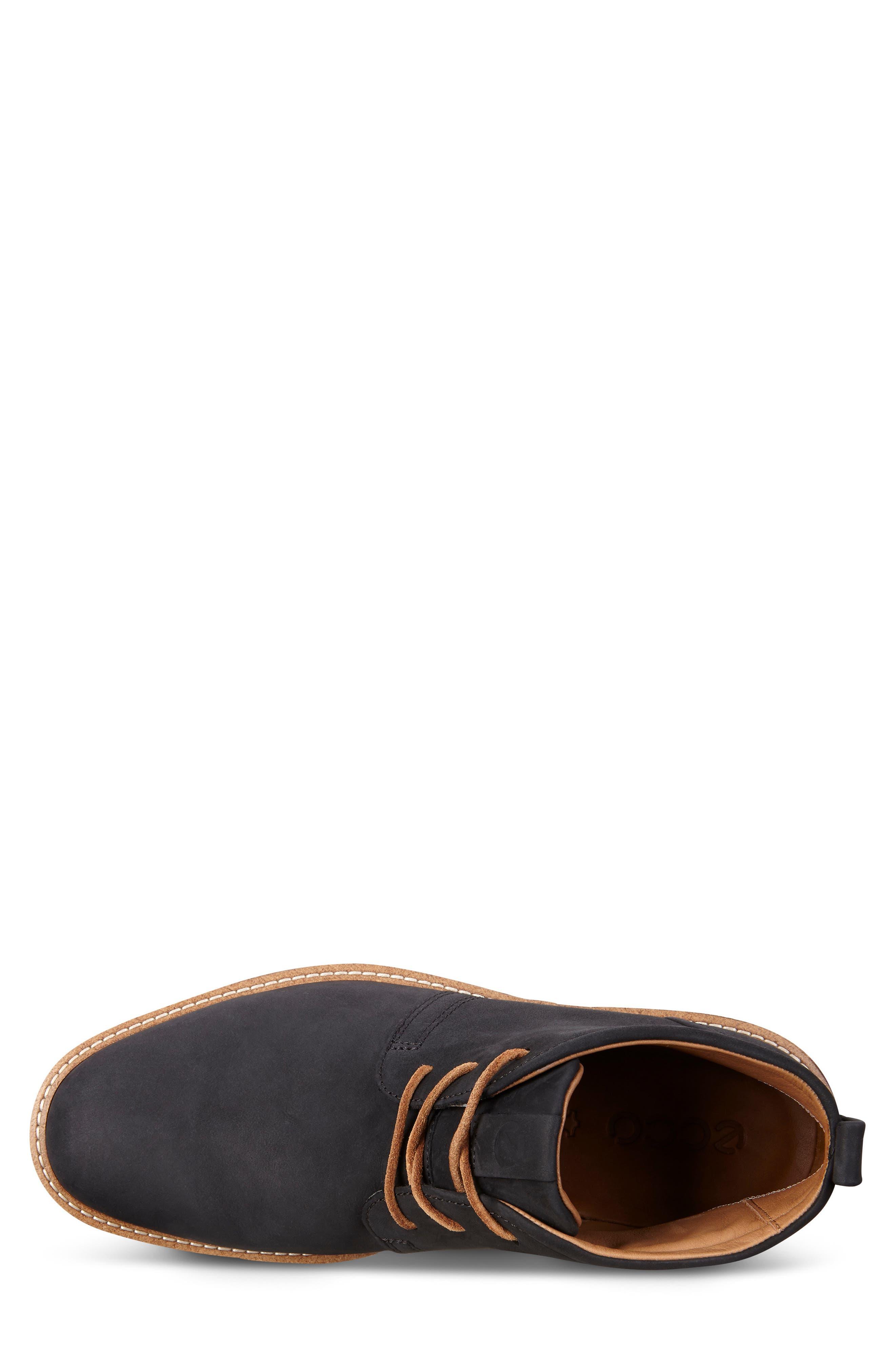 'Jeremy Hybrid' Plain Toe Boot,                             Alternate thumbnail 4, color,                             BLACK LEATHER