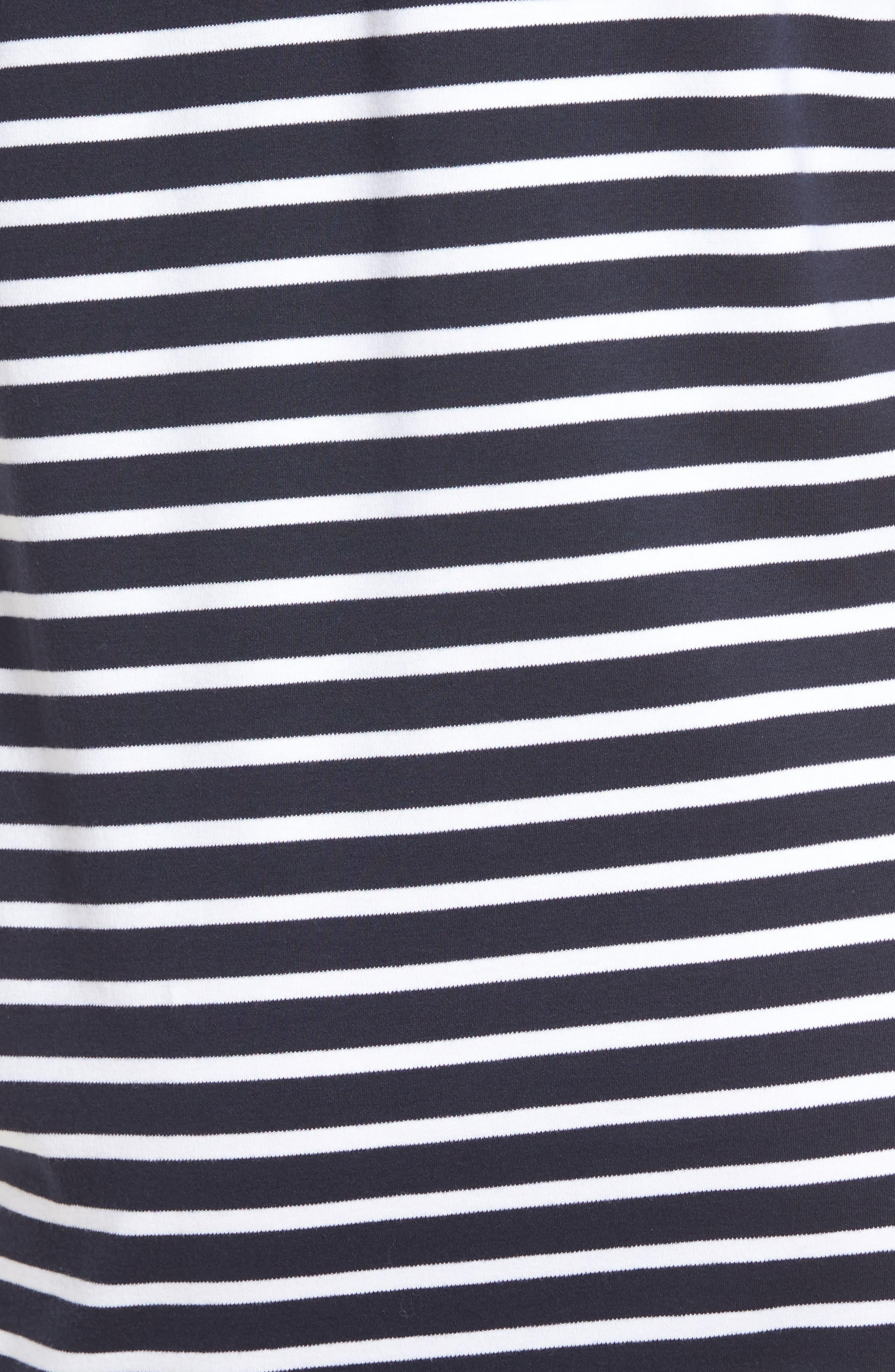 Bow Back Stripe Knit Dress,                             Alternate thumbnail 6, color,                             410