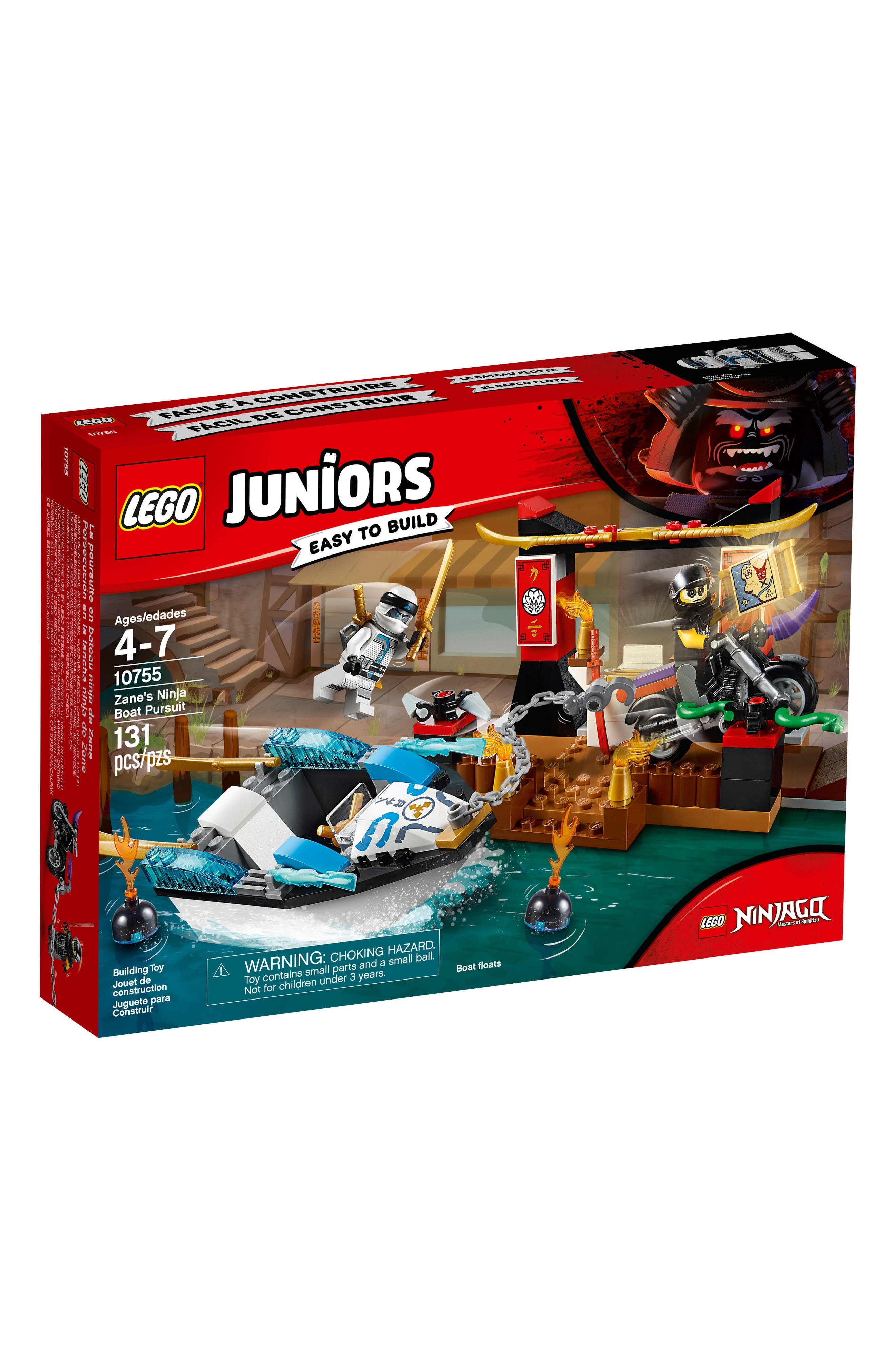 Juniors Zane's Ninja Boat Pursuit Play Set - 10755,                         Main,                         color, 001