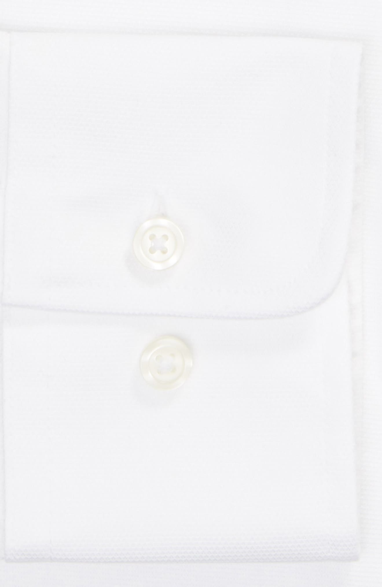 Classic Fit Solid Dress Shirt,                             Alternate thumbnail 6, color,                             WHITE