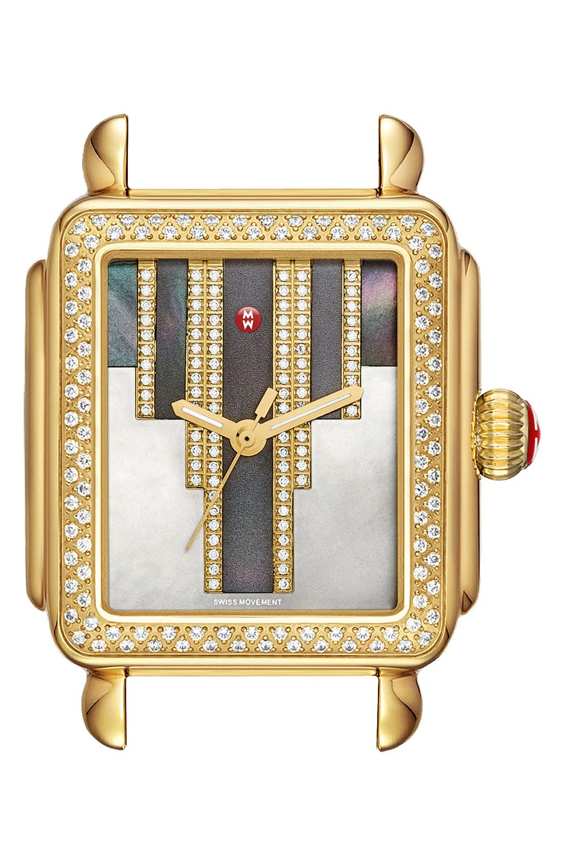 Deco Skyline Diamond Diamond Dial Watch Case, 33mm,                             Main thumbnail 1, color,                             712