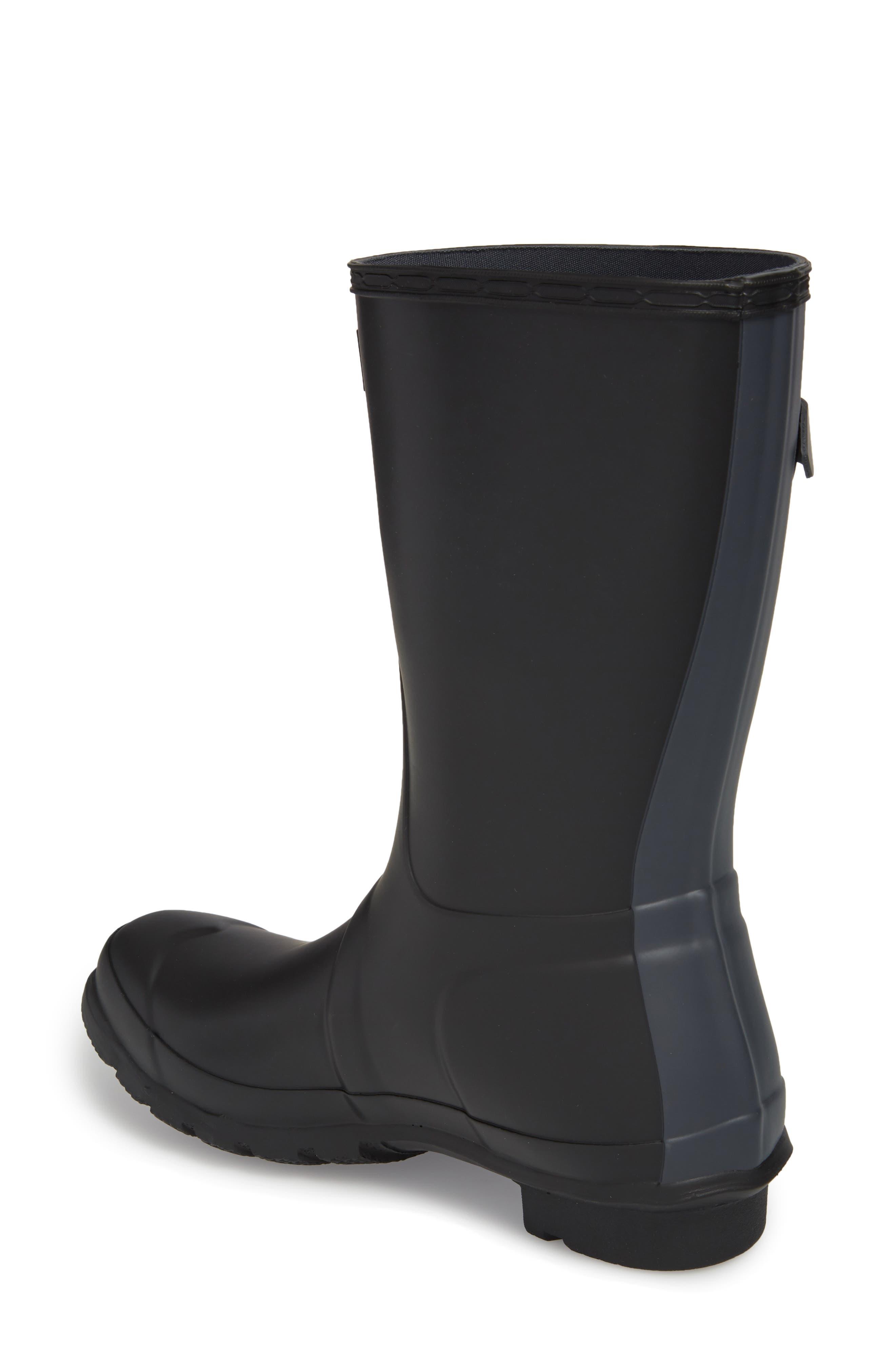 HUNTER,                             Original Short Waterproof Rain Boot,                             Alternate thumbnail 2, color,                             001