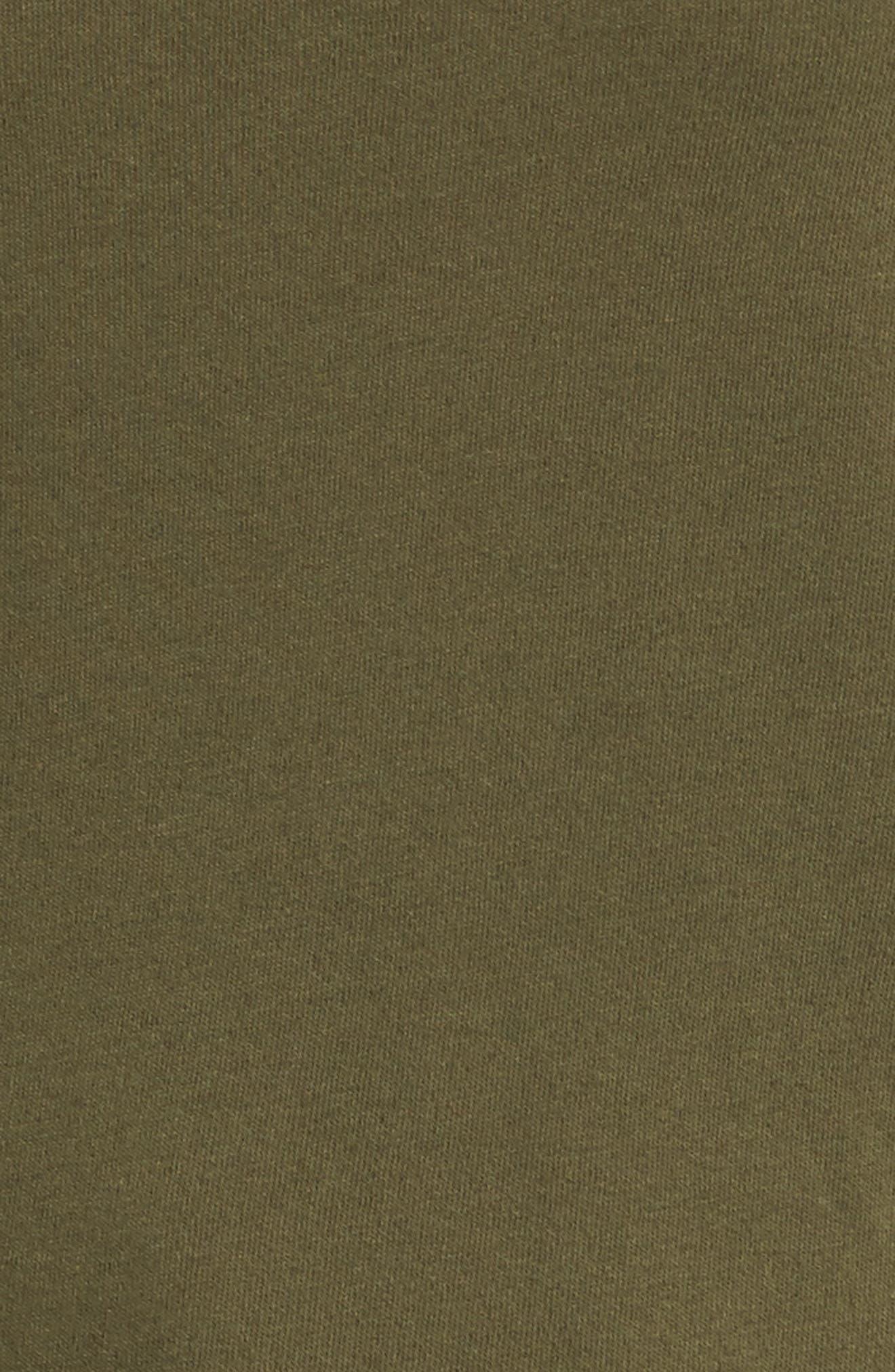 Distressed Fleece Turtleneck Sweatshirt,                             Alternate thumbnail 5, color,                             317