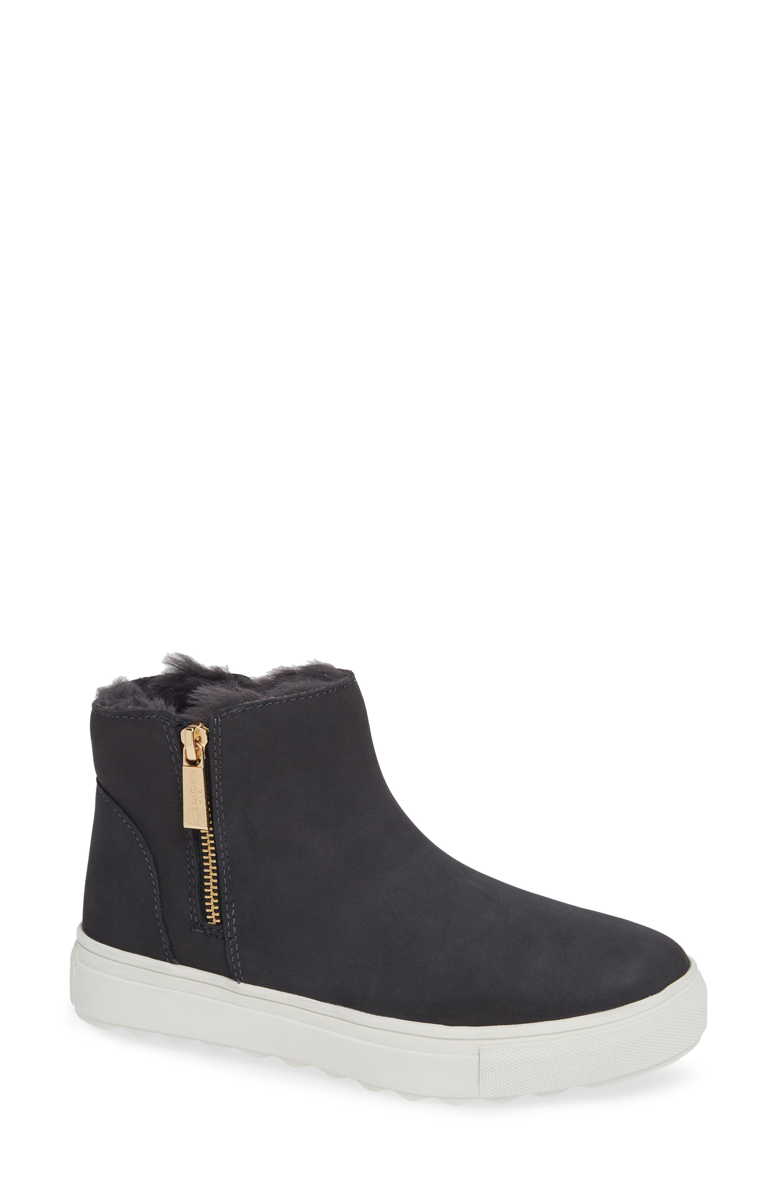 JSLIDES Poppy Waterproof Bootie in Navy Nubuck