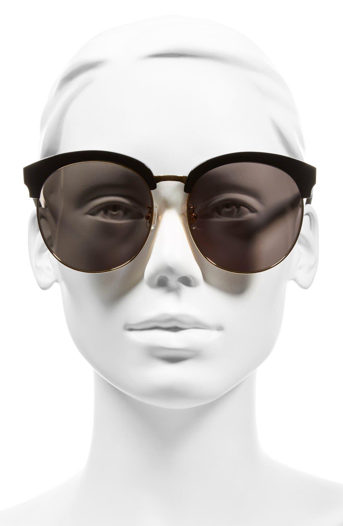 'Deborah' 60mm Oversize Sunglasses,                             Alternate thumbnail 2, color,                             001