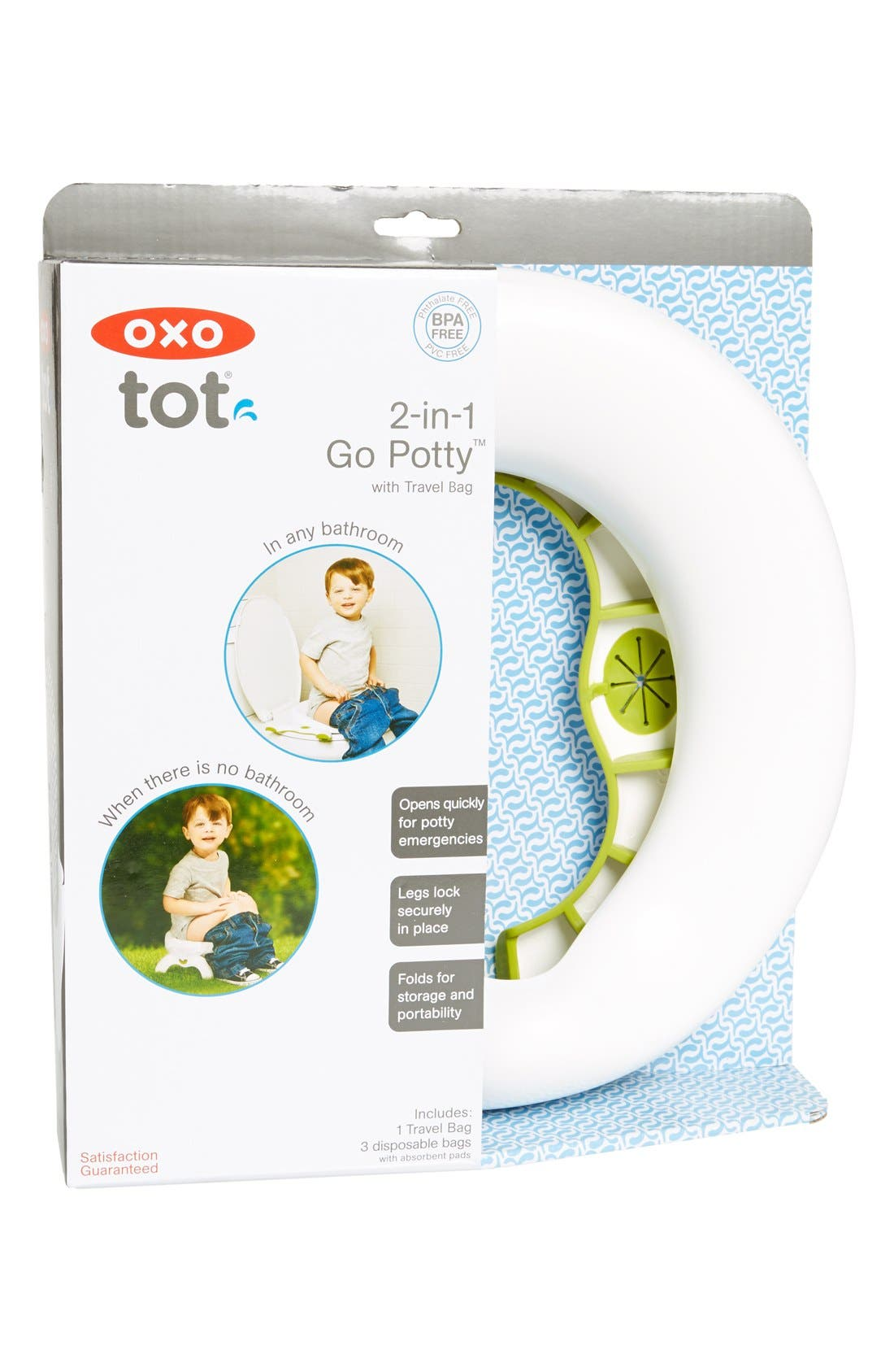 '2-in-1 Go Potty' Portable Toilet Set & Travel Bag,                             Main thumbnail 1, color,