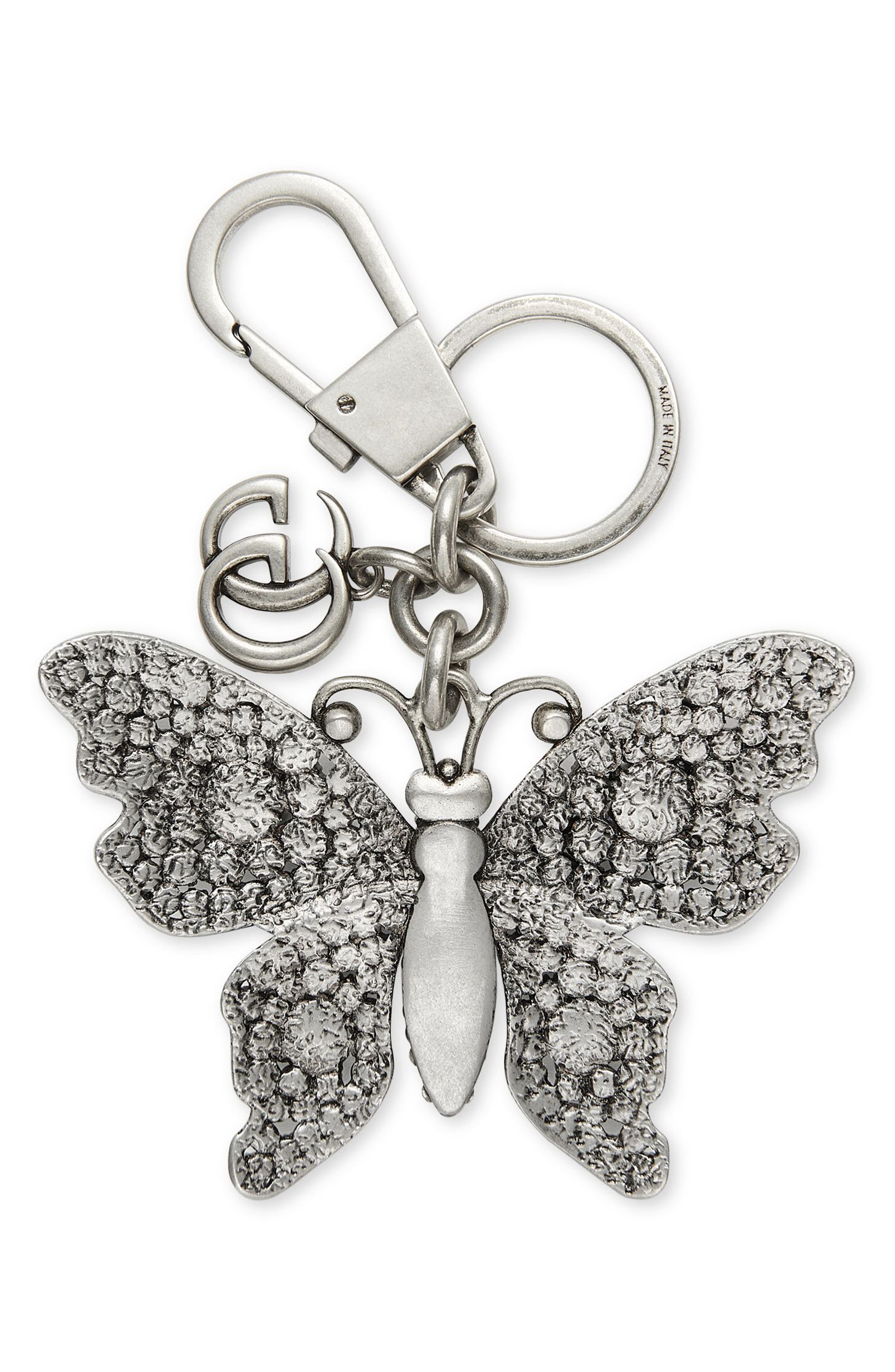 GUCCI,                             Crystal Butterfly Bag Charm,                             Alternate thumbnail 2, color,                             047