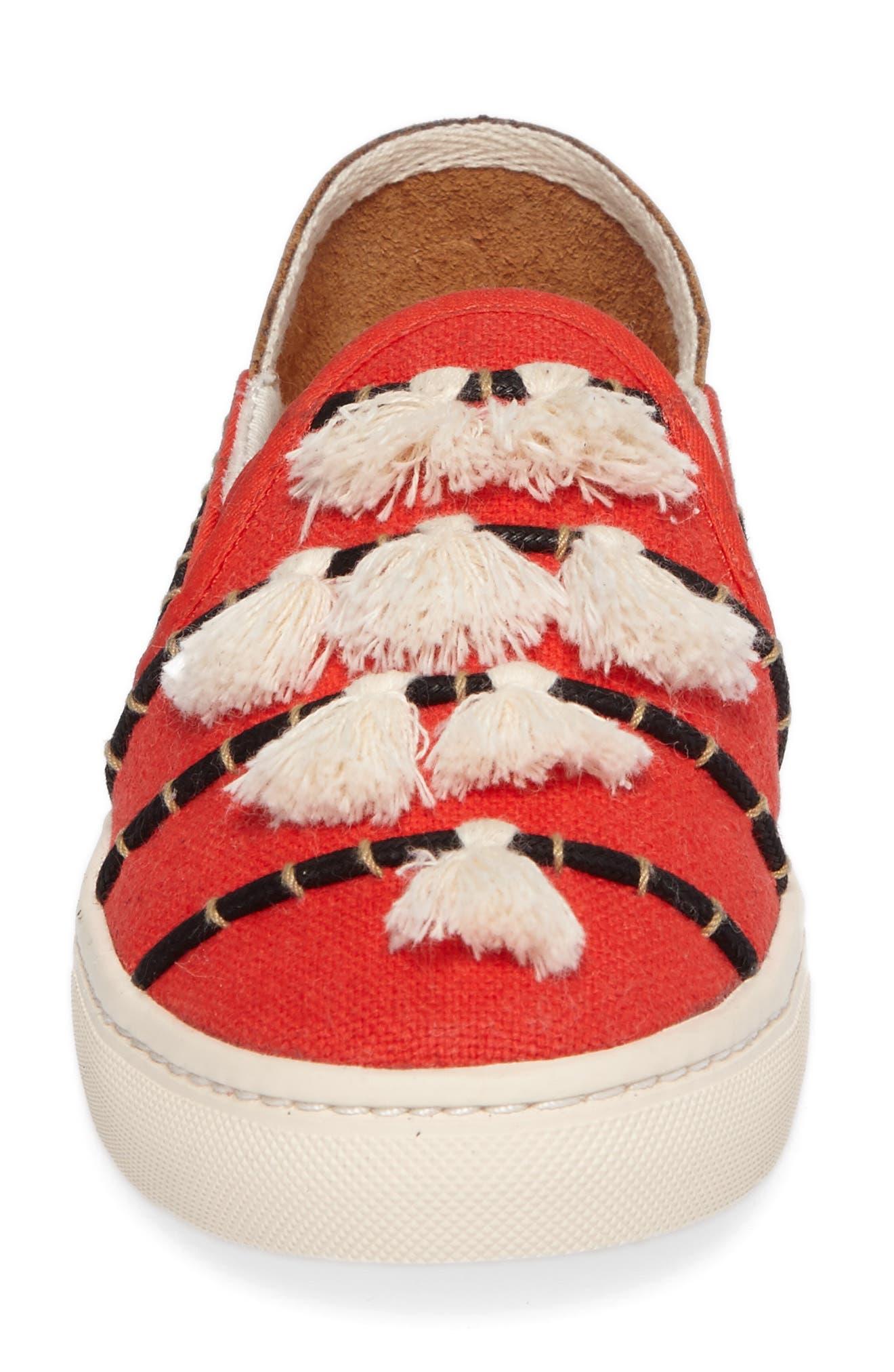 Tassel Slip-On Sneaker,                             Alternate thumbnail 4, color,                             603