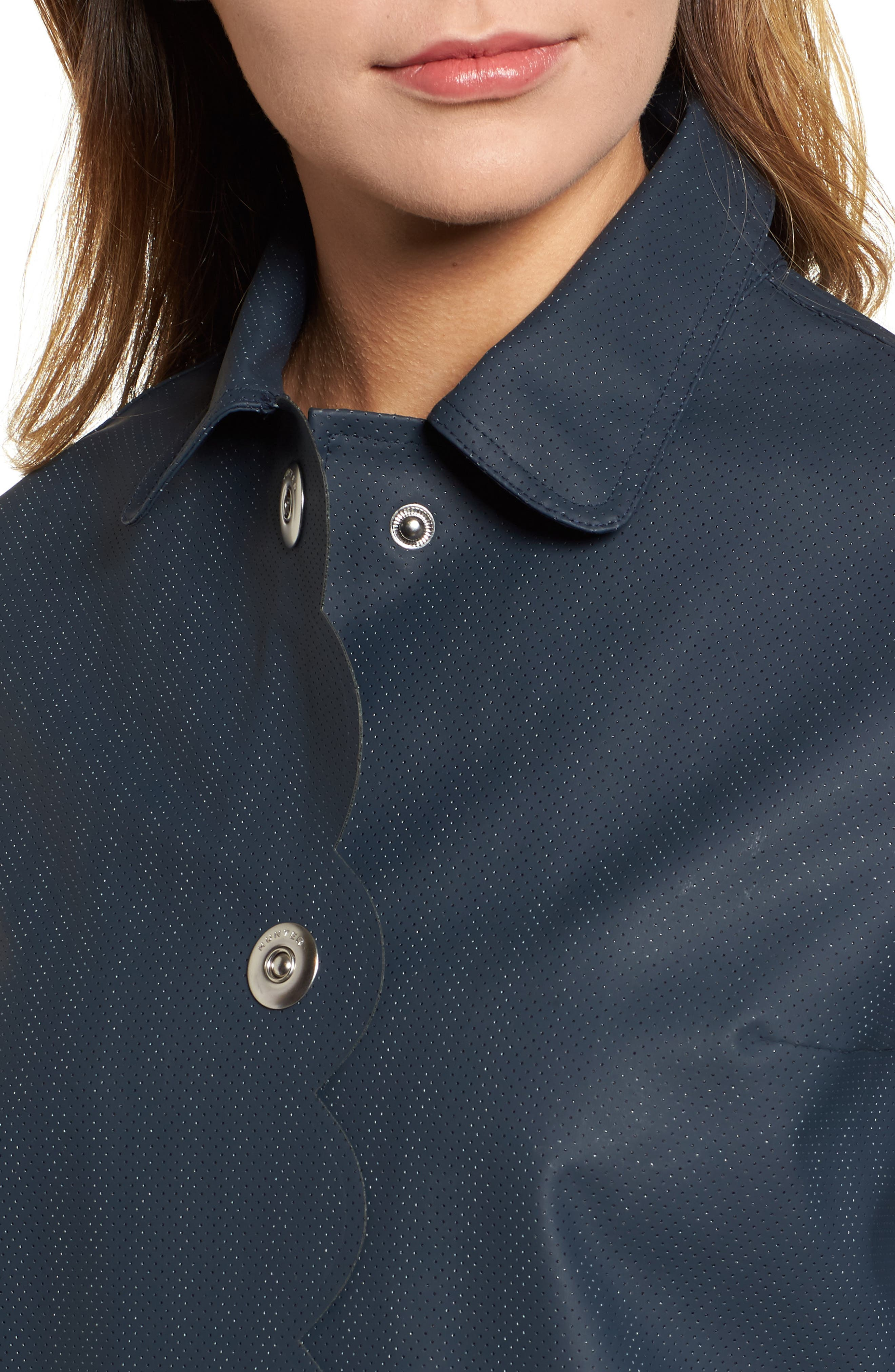 Refined Perforated A-Line Coat,                             Alternate thumbnail 4, color,                             410