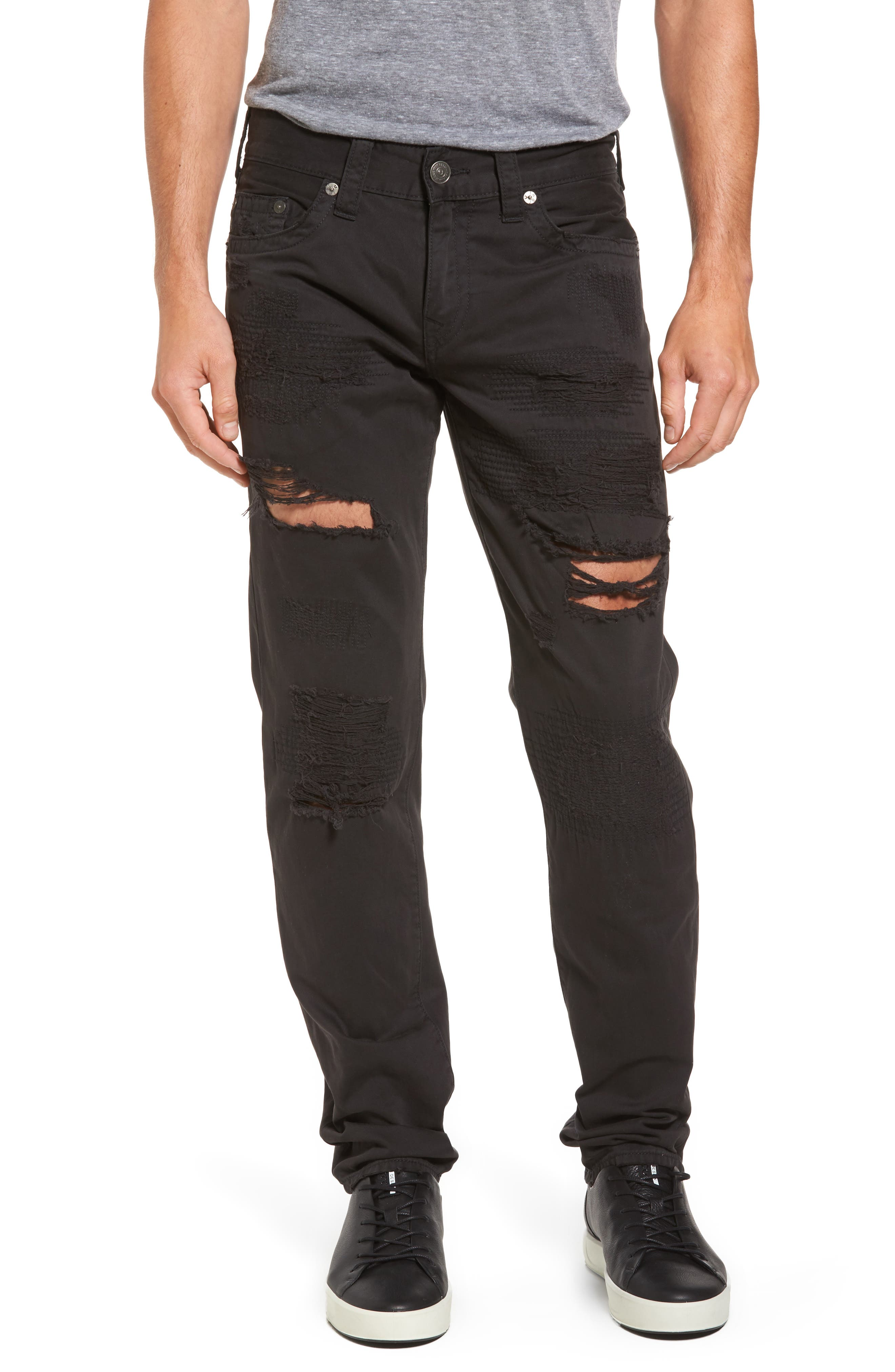 Geno Straight Fit Jeans,                             Main thumbnail 1, color,                             BLACK