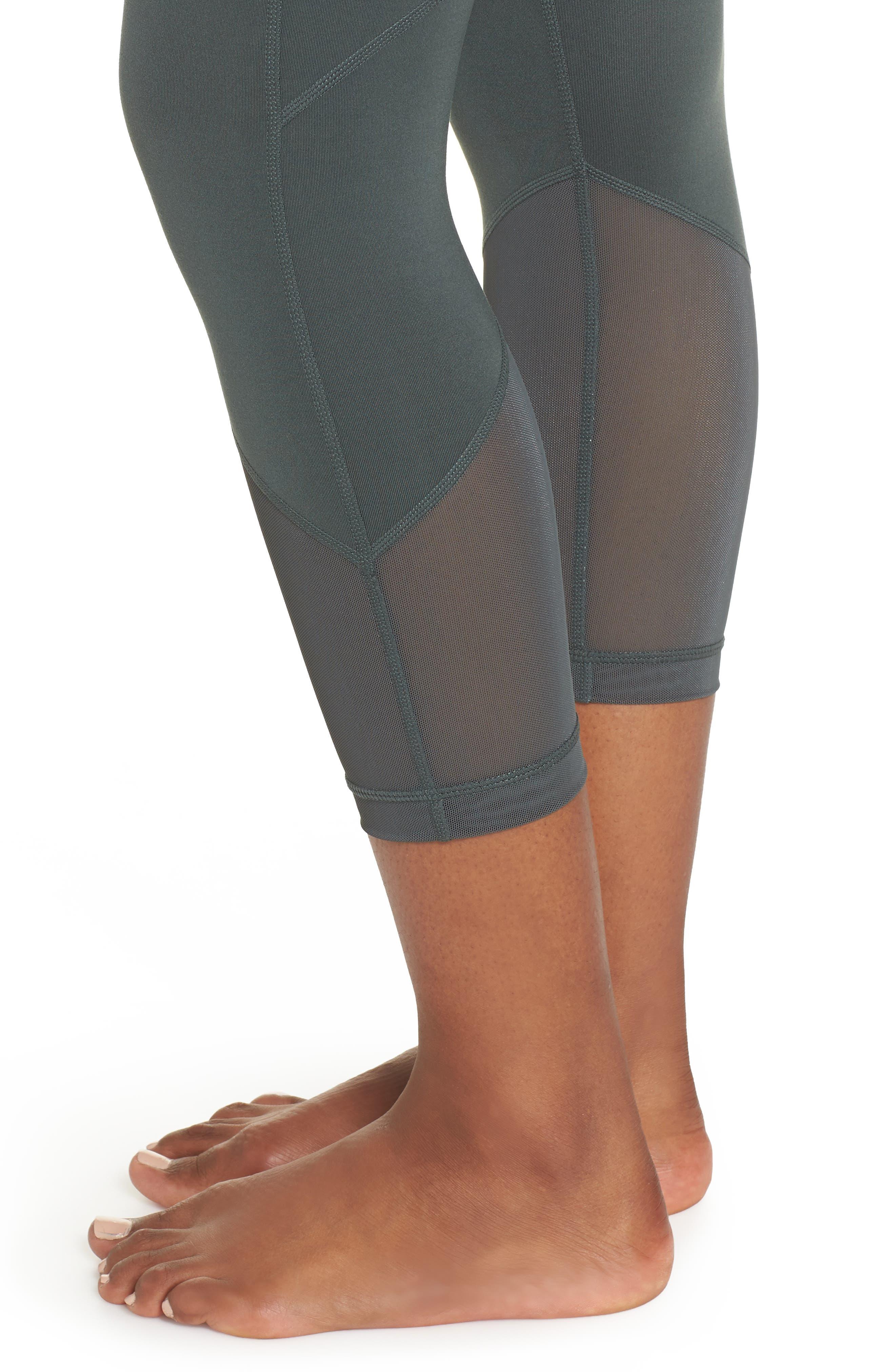 Gemini Cool Recycled Crop Leggings,                             Alternate thumbnail 4, color,                             GREY URBAN