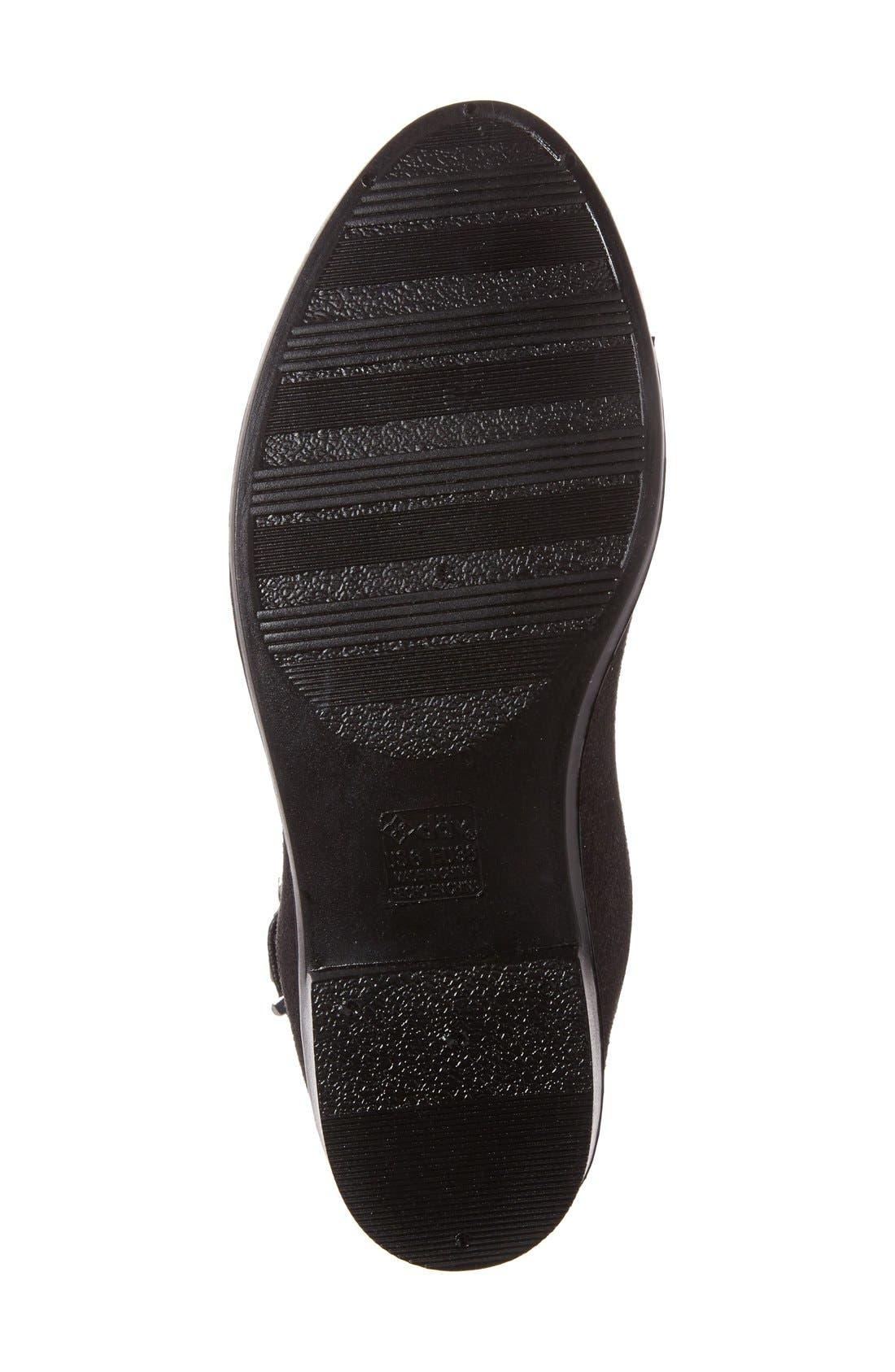DÄV,                             'Glasgow' Water Resistant Chelsea Boot,                             Alternate thumbnail 4, color,                             BLACK