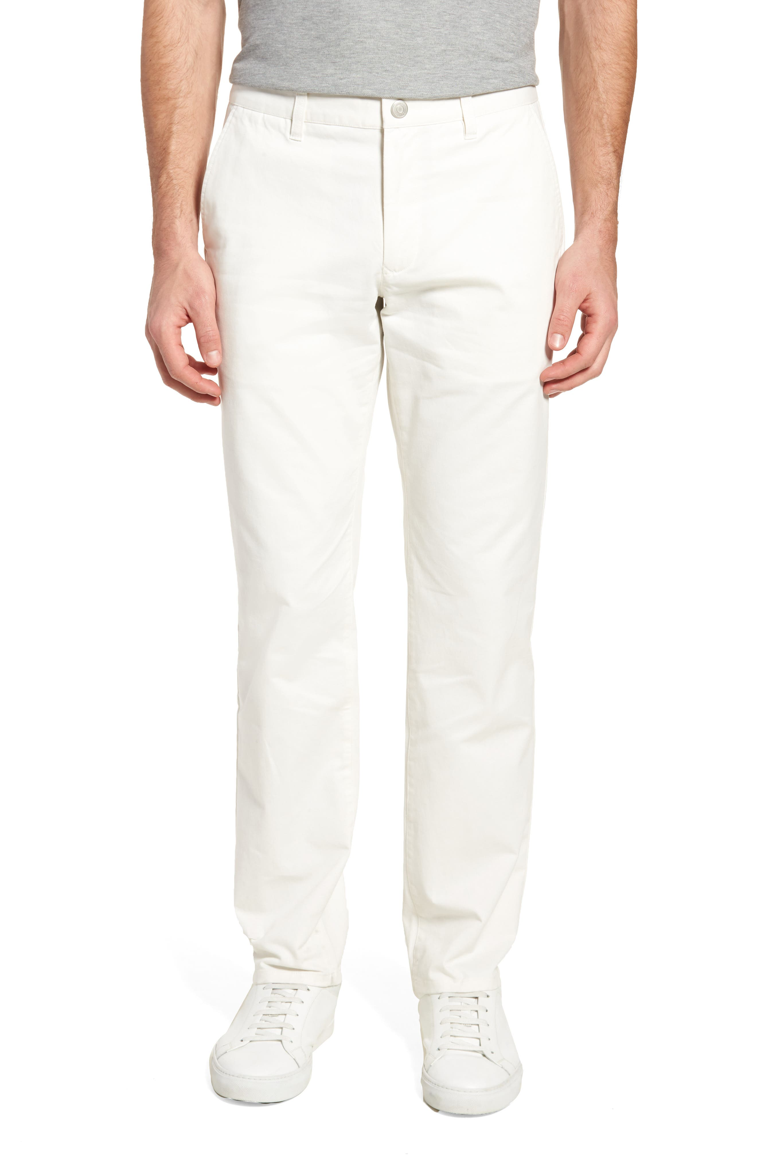 Slim Fit Stretch Washed Chinos,                             Main thumbnail 1, color,                             FULL SAIL OFF WHITE