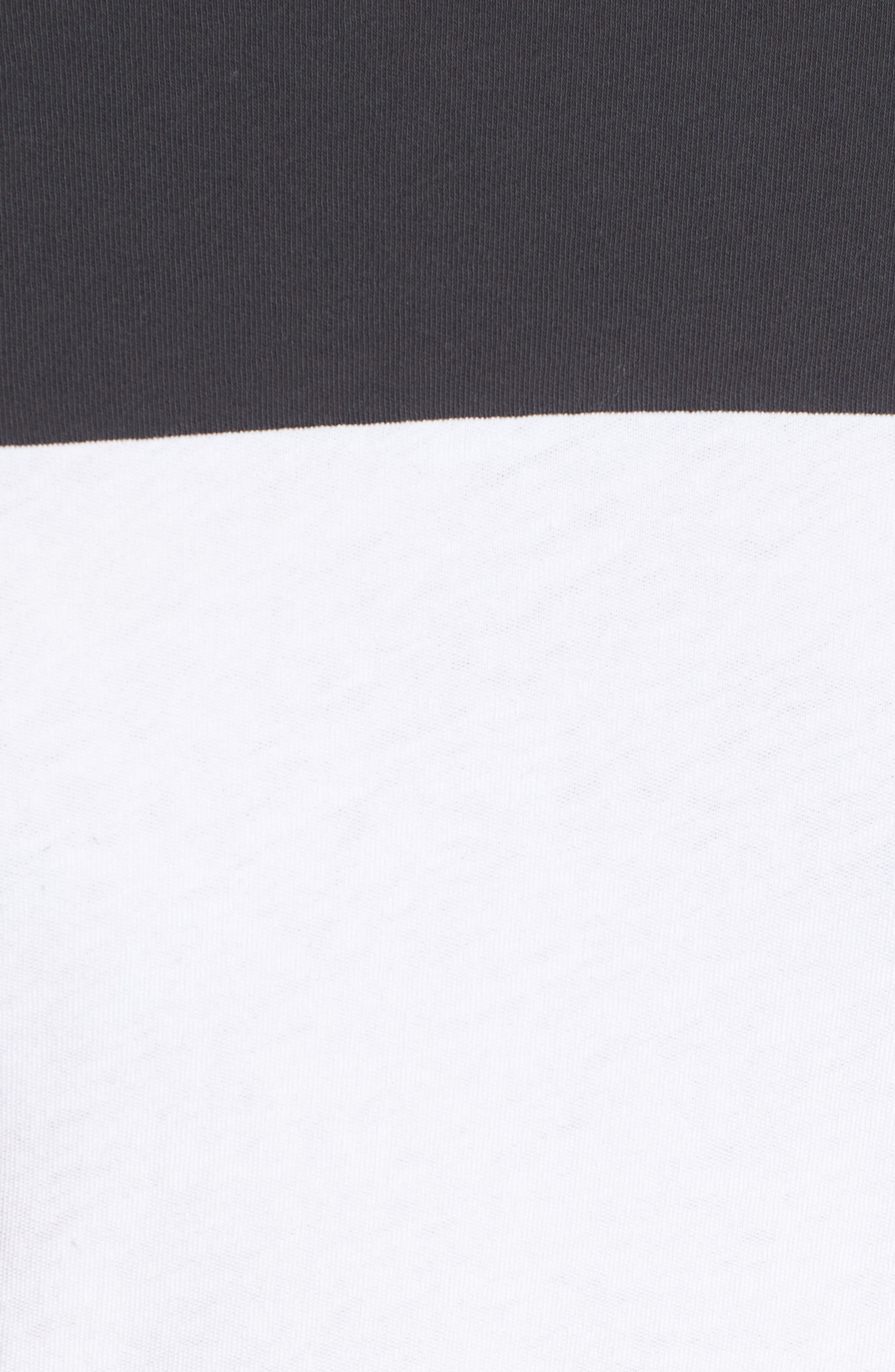 Colorblock Motocross Shirt,                             Alternate thumbnail 5, color,                             CARBON WHITE