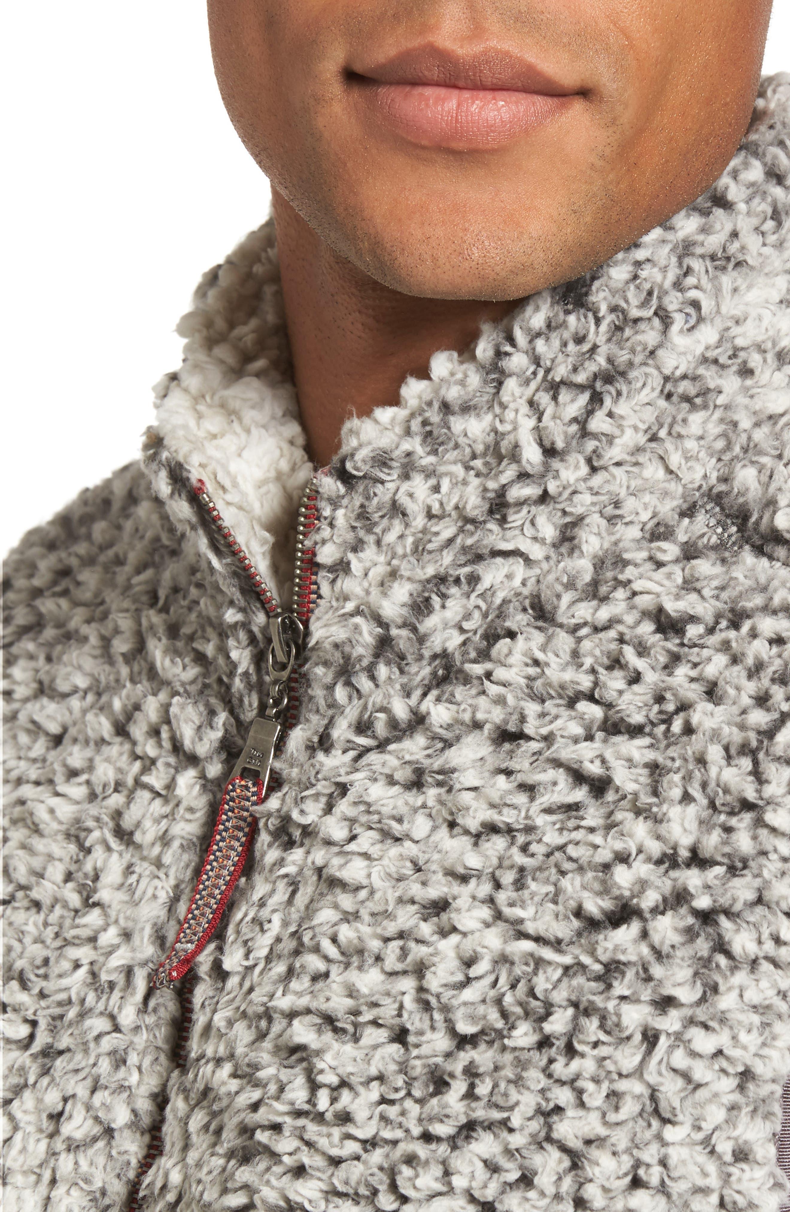 Double Up Frosty Tipped Faux Fur Vest,                             Alternate thumbnail 4, color,                             020