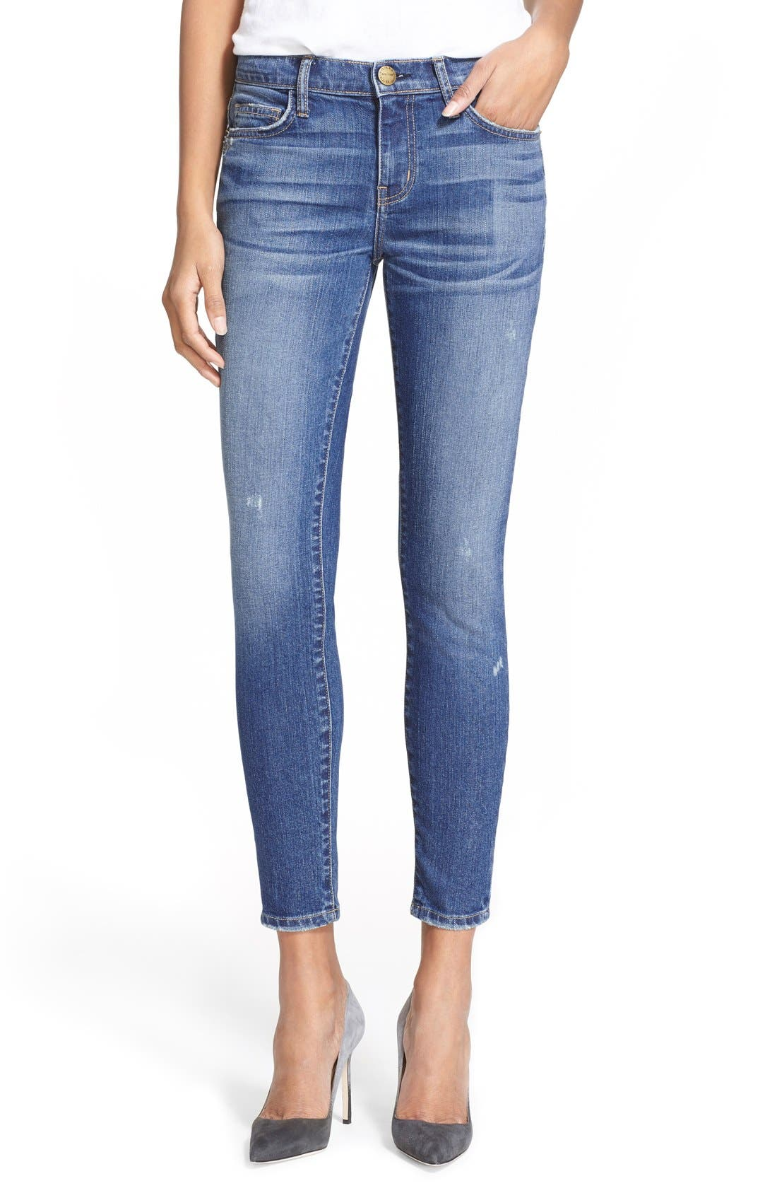 'The Stiletto' Destroyed Skinny Jeans,                             Main thumbnail 10, color,