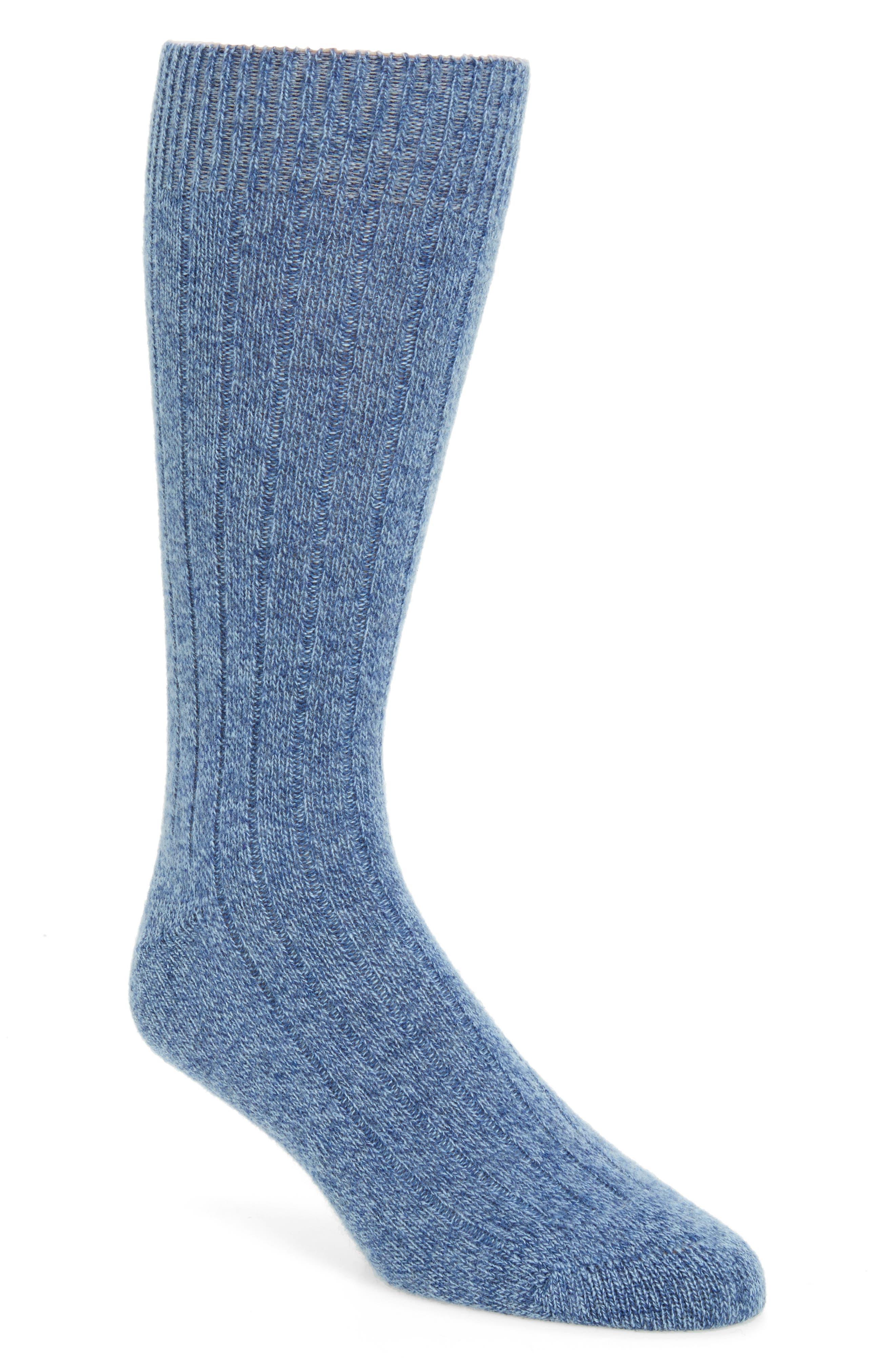 'Waddington' Cashmere Blend Mid Calf Socks,                             Alternate thumbnail 19, color,