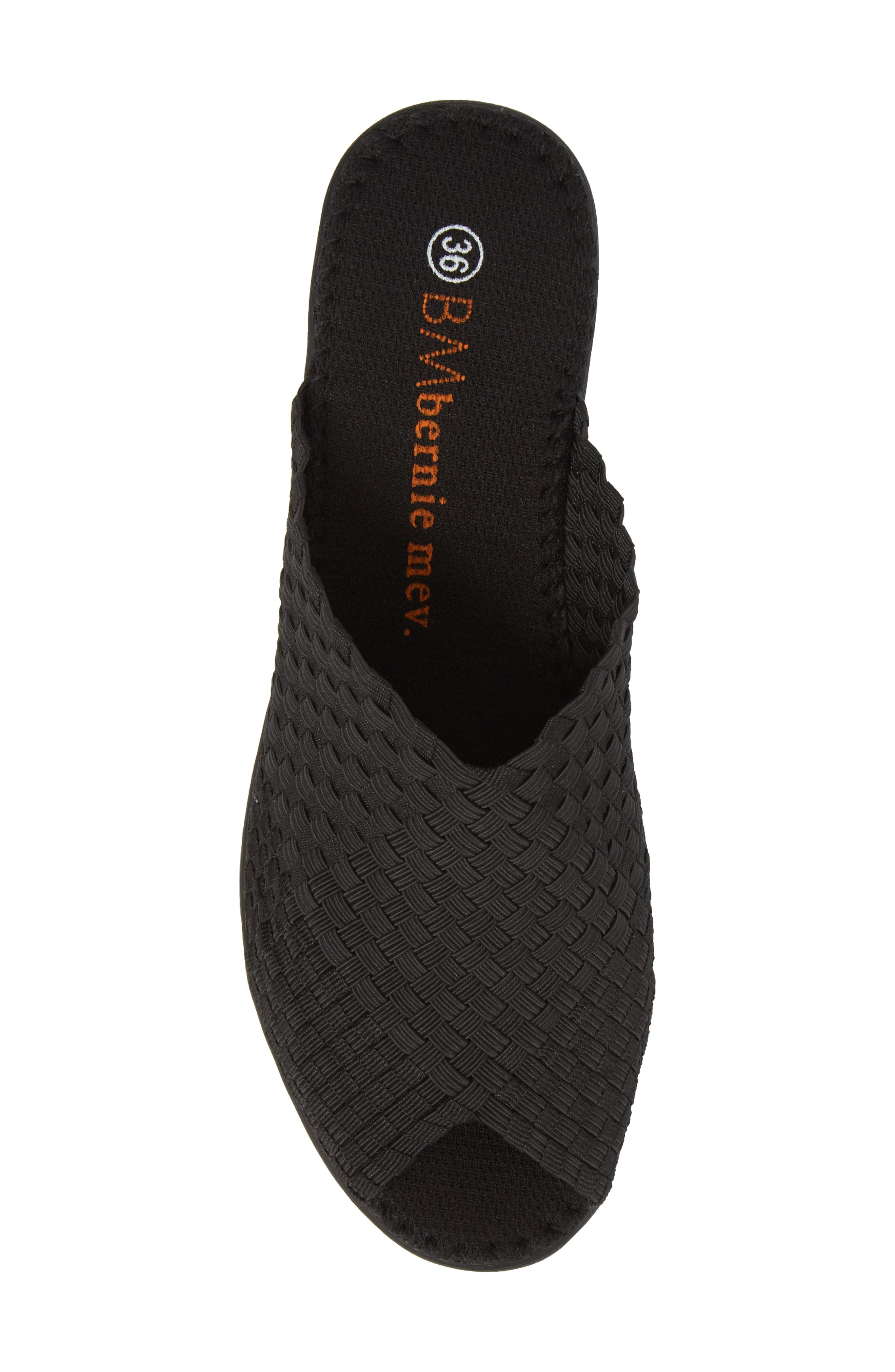 Cyrene Wedge Sandal,                             Alternate thumbnail 5, color,                             BLACK FABRIC