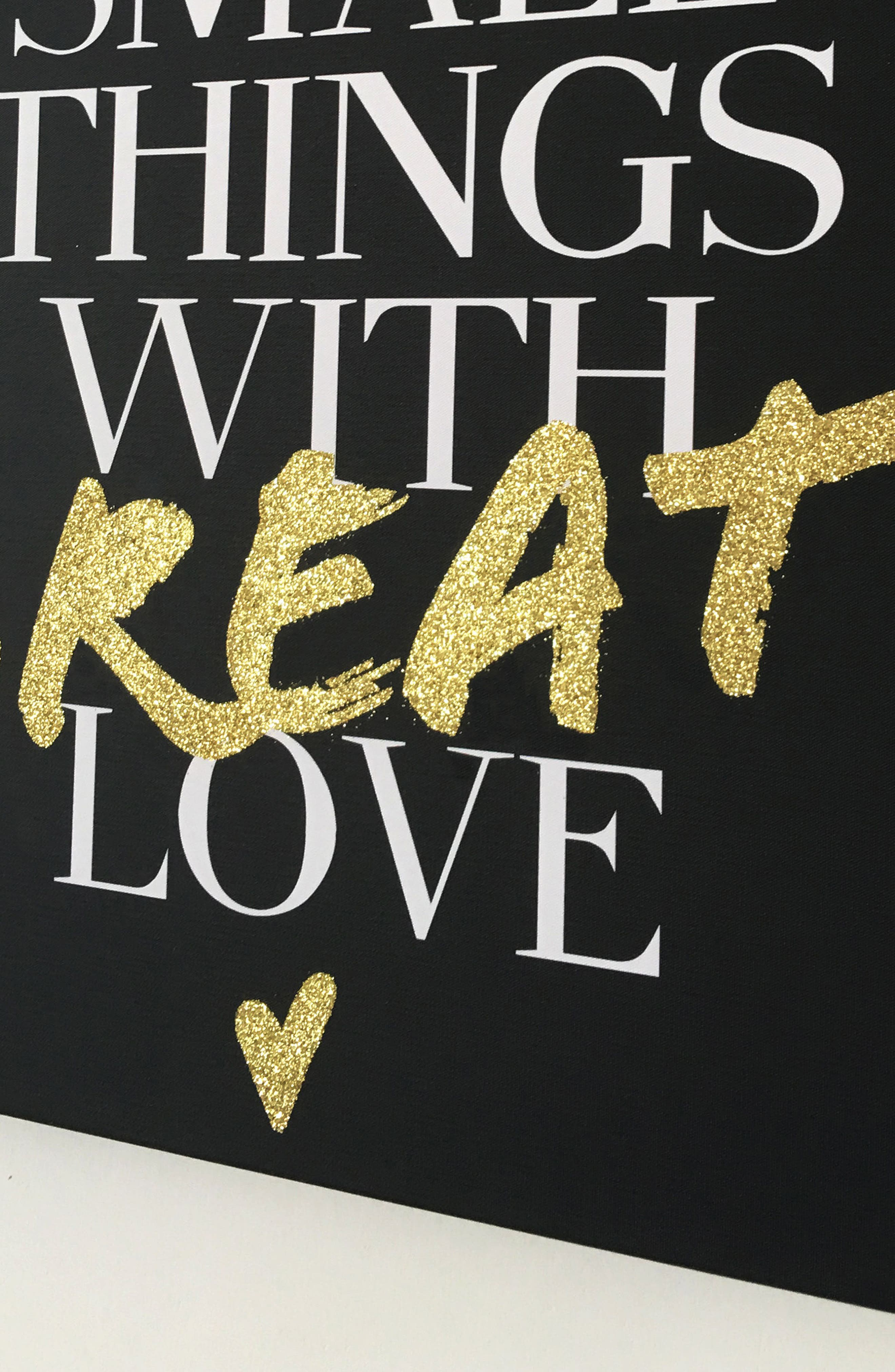 Wynwood Do Small Things with Great Love Canvas Wall Art,                             Alternate thumbnail 3, color,                             001