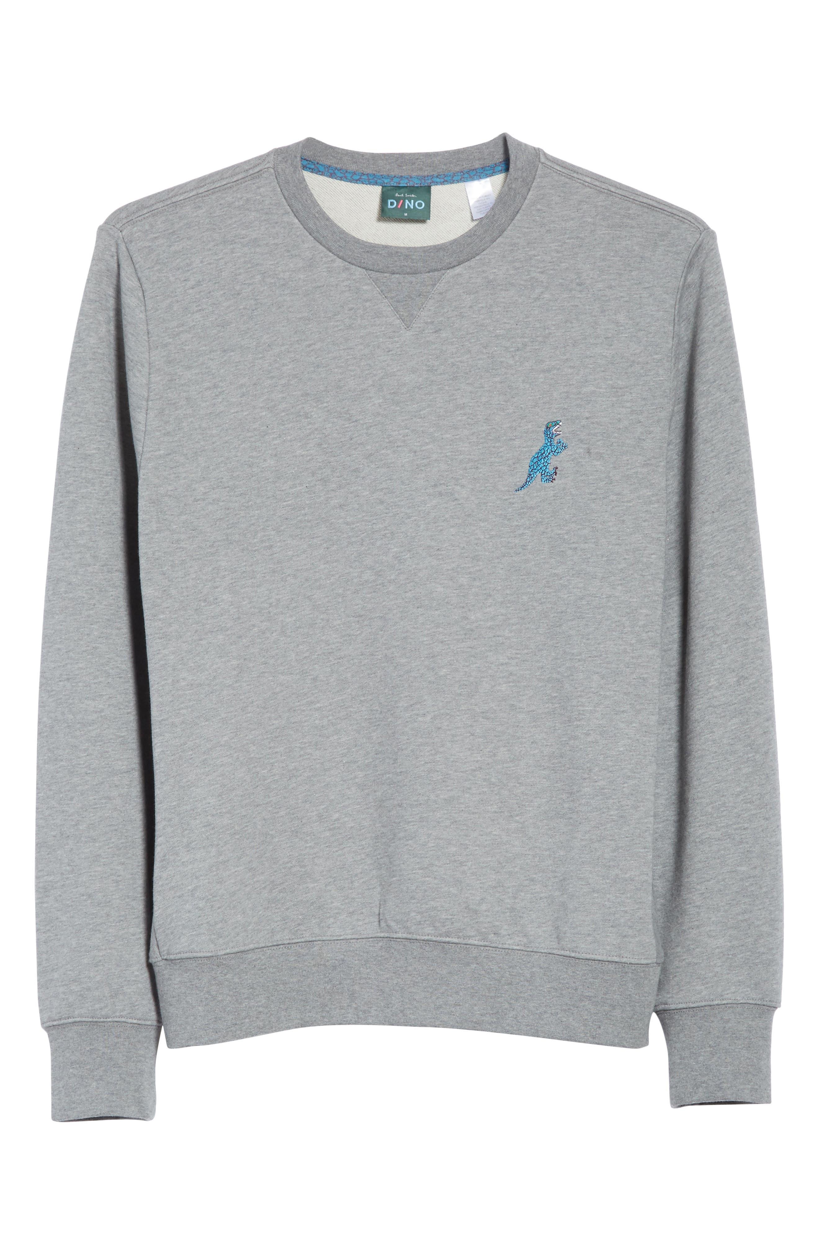 Dino Embroidered Crewneck Sweatshirt,                             Alternate thumbnail 6, color,