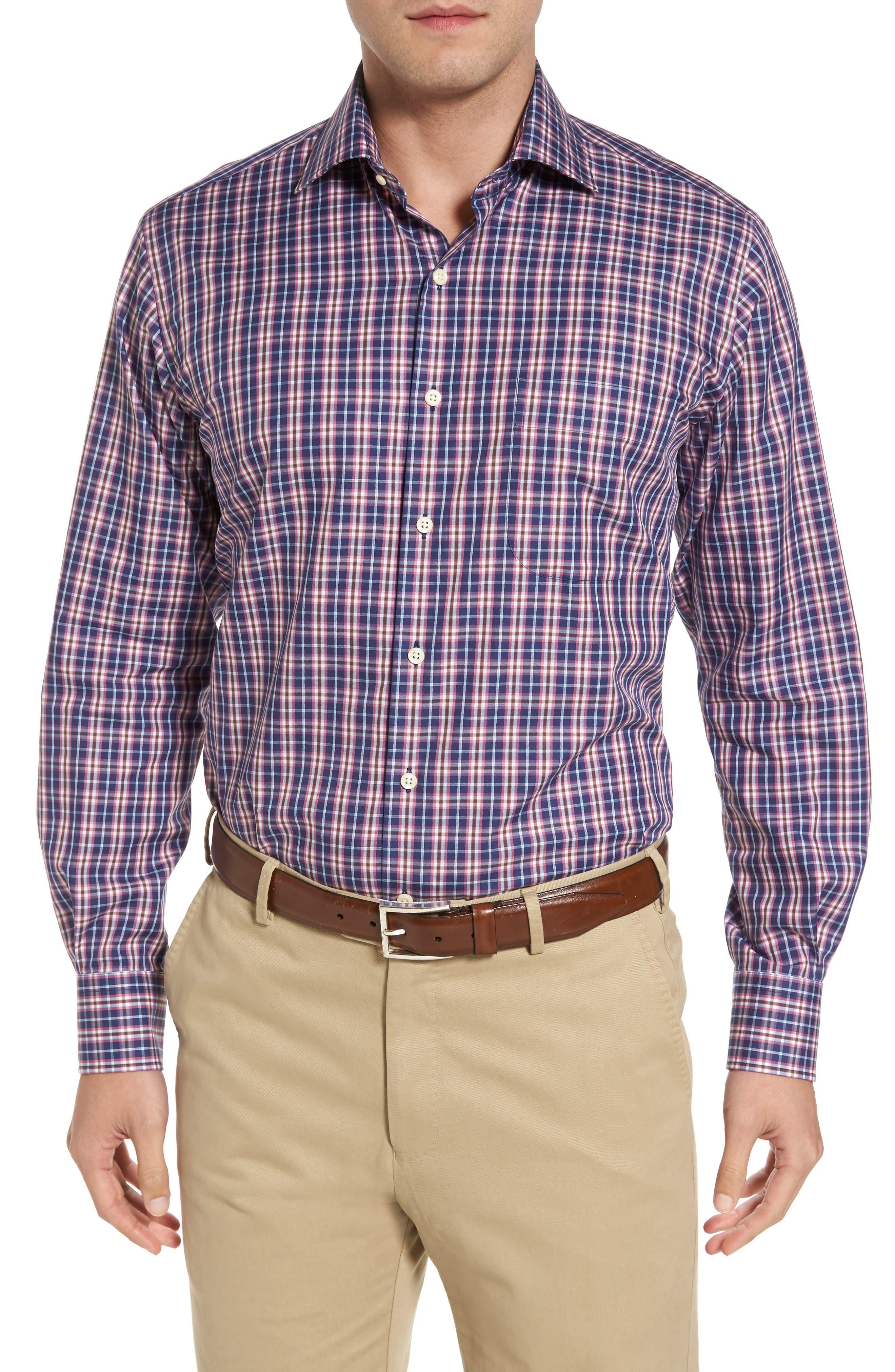 Mitchell Plaid Sport Shirt,                         Main,                         color, 420