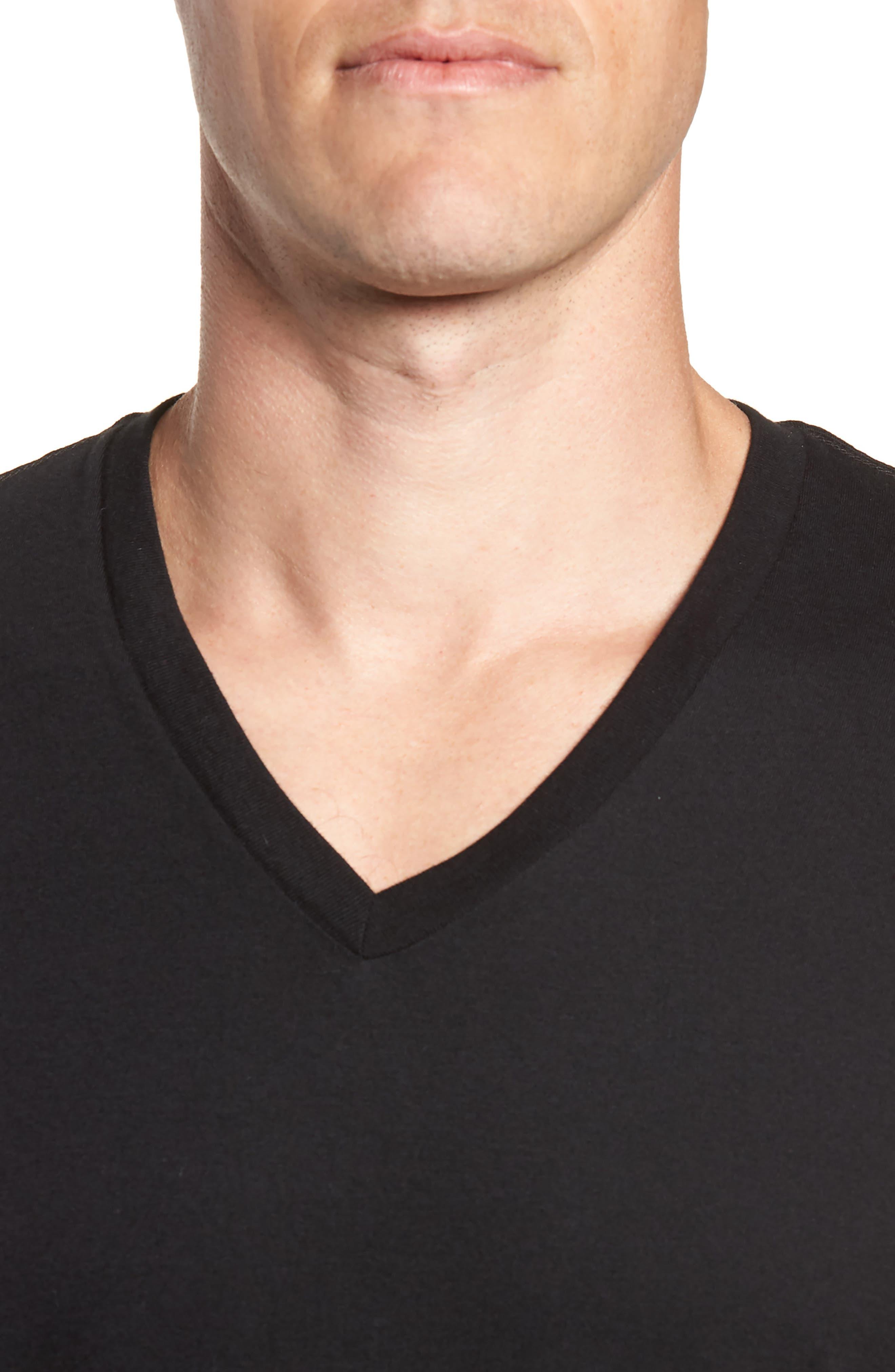 Polo Ralph Lauren 3-Pack V-Neck T-Shirts,                             Alternate thumbnail 5, color,                             POLO BLACK