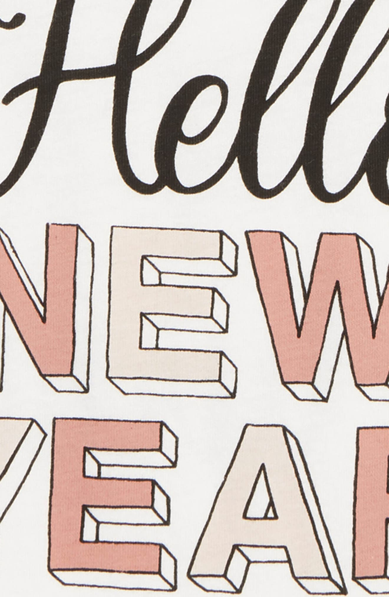 Hello New Year T-Shirt,                             Alternate thumbnail 3, color,                             IVORY