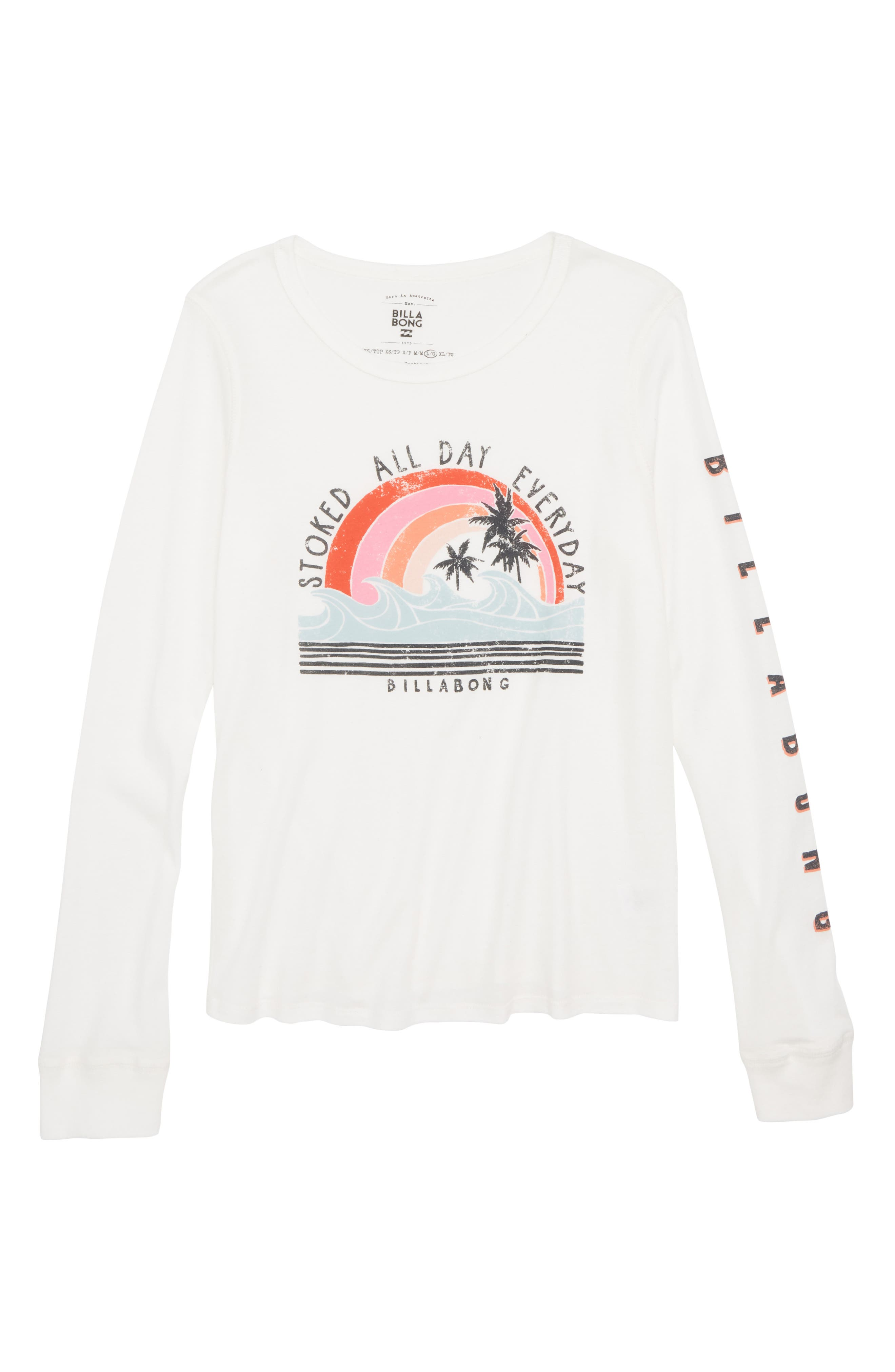 Stoked All Day Graphic Tee,                             Main thumbnail 1, color,