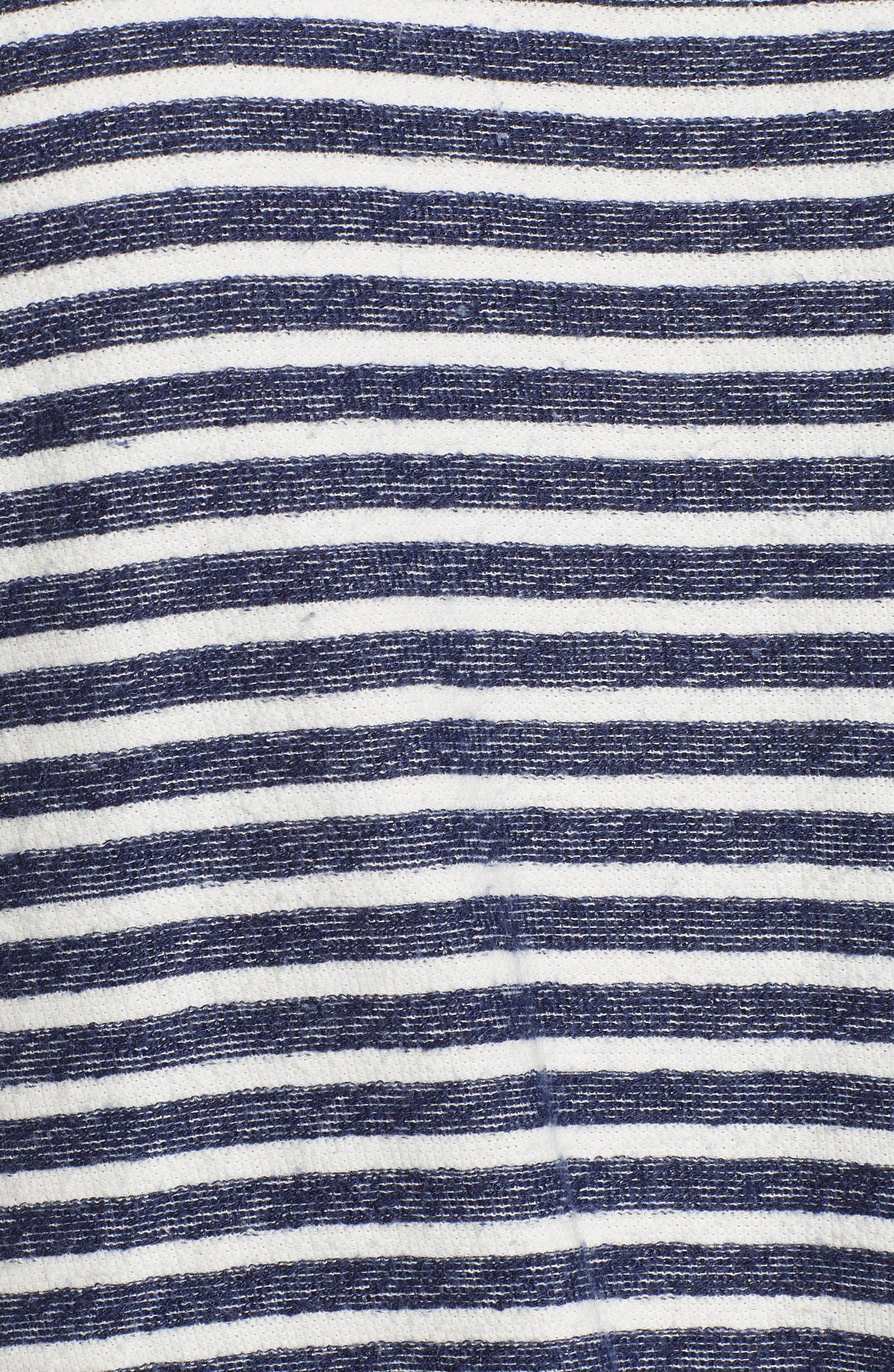 Tie Front Stripe Top,                             Alternate thumbnail 6, color,                             433