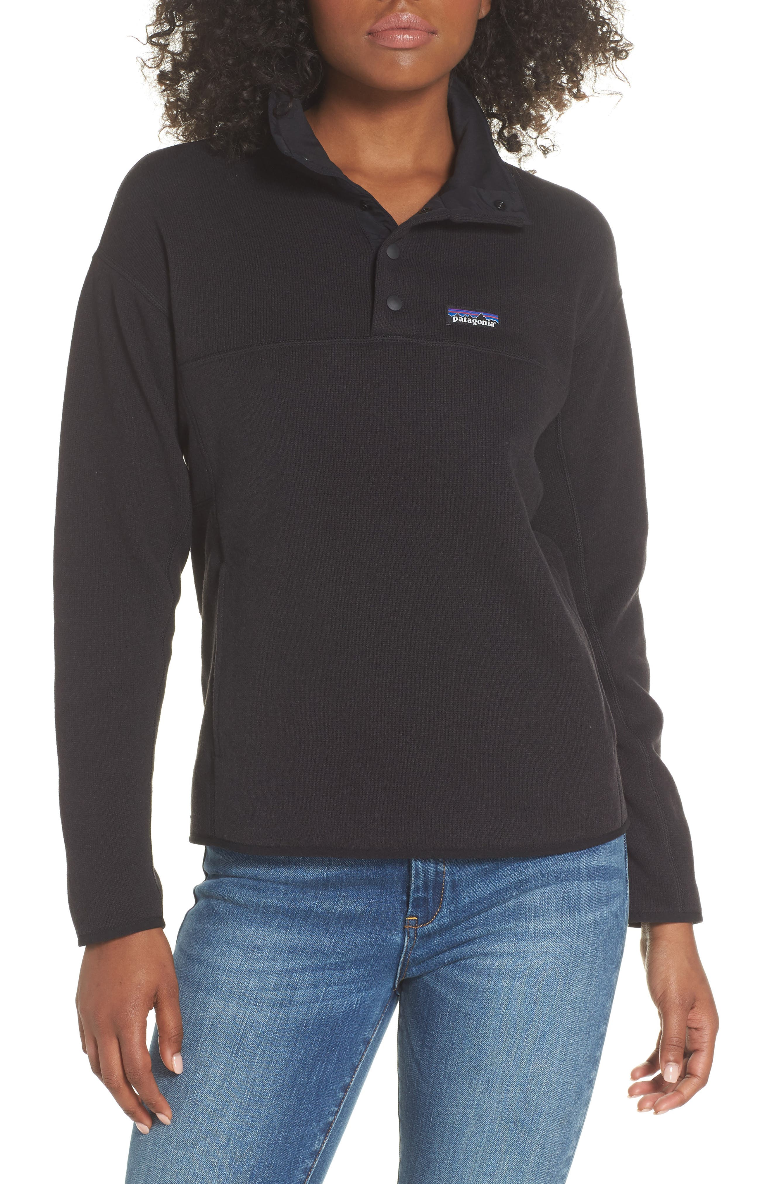 Lightweight Better Sweater Fleece,                         Main,                         color, BLACK