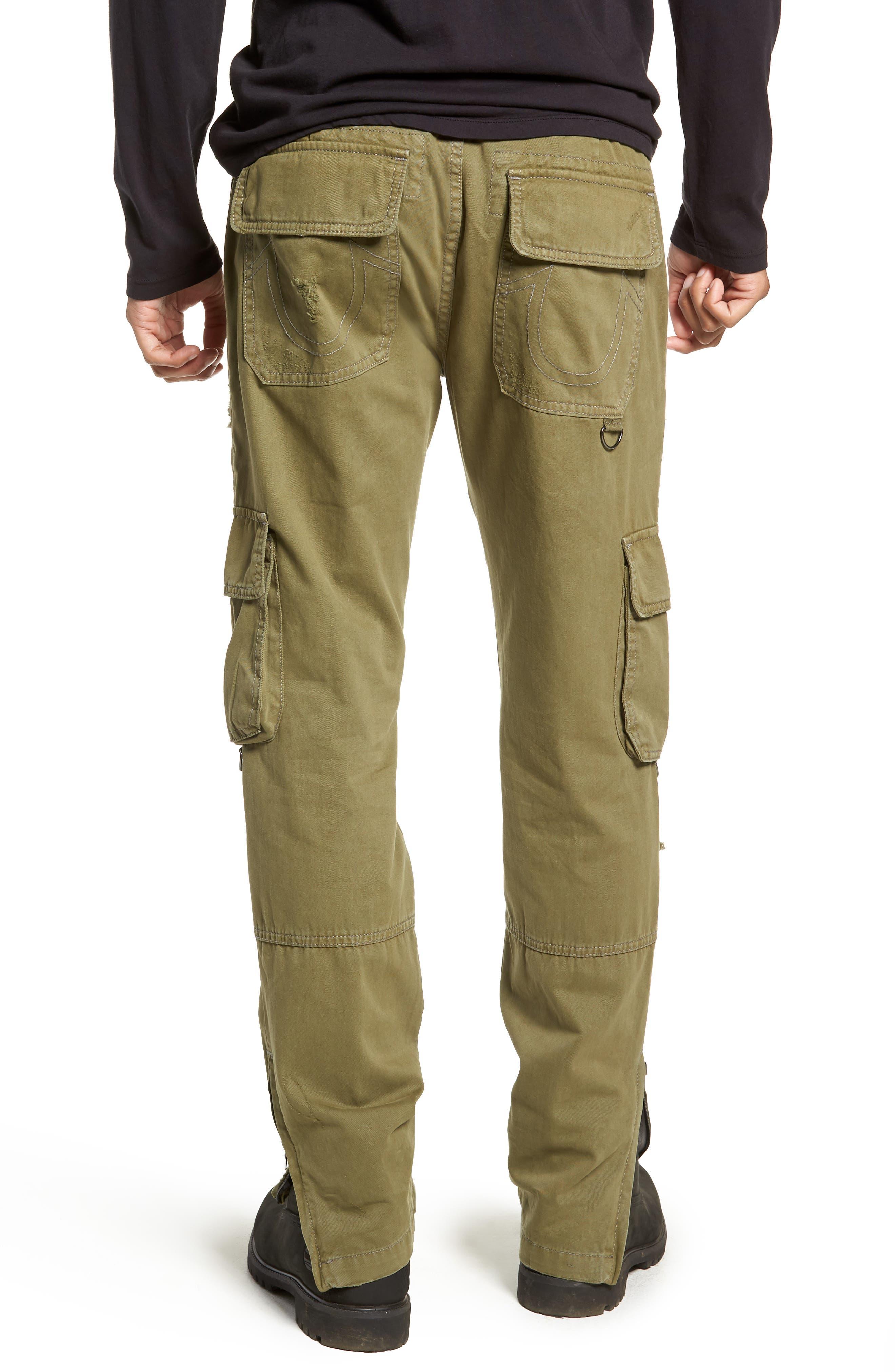 Military Cargo Pants,                             Alternate thumbnail 2, color,                             MIST GREEN