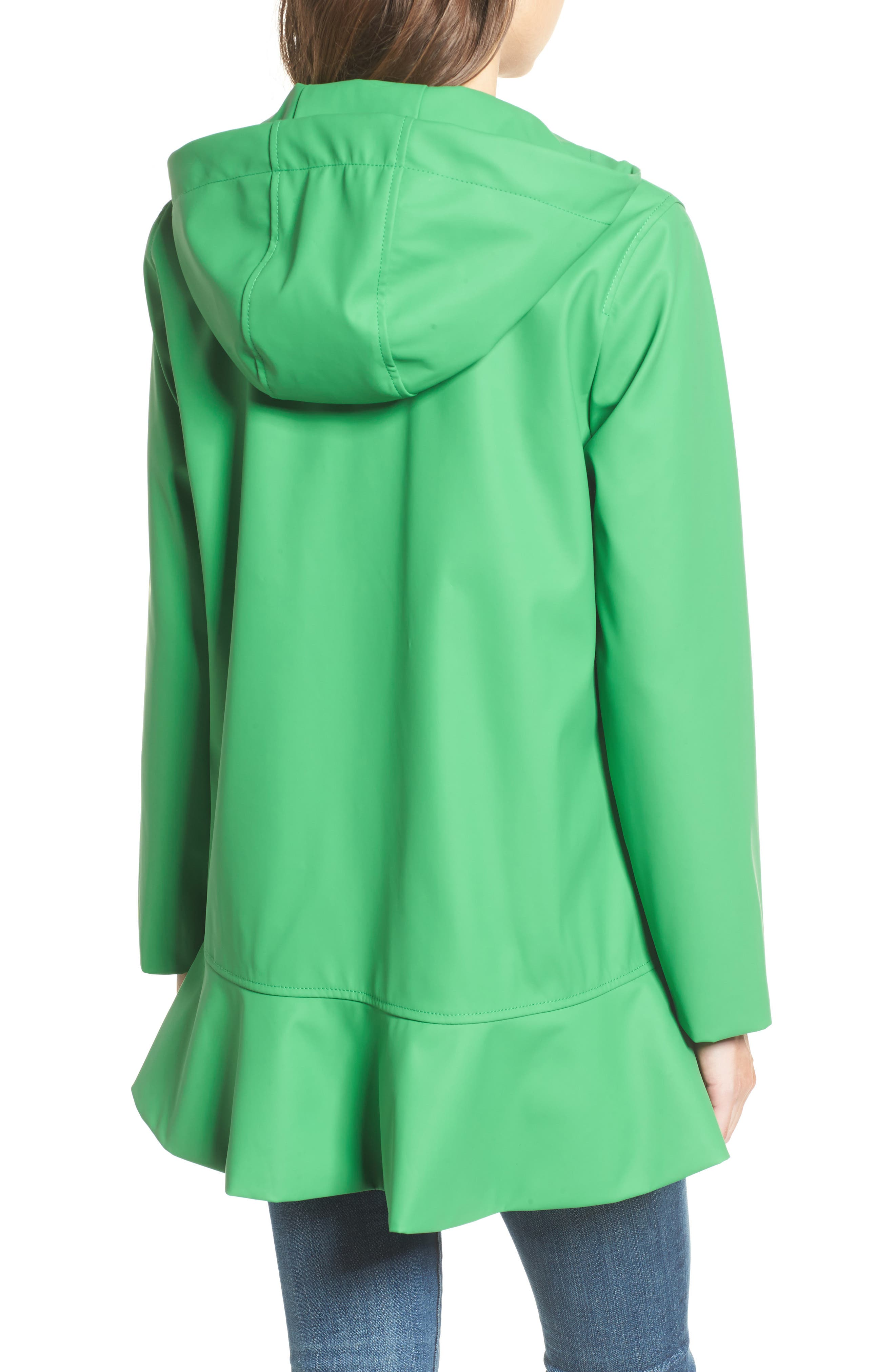 hooded peplum rain coat,                             Alternate thumbnail 2, color,                             330
