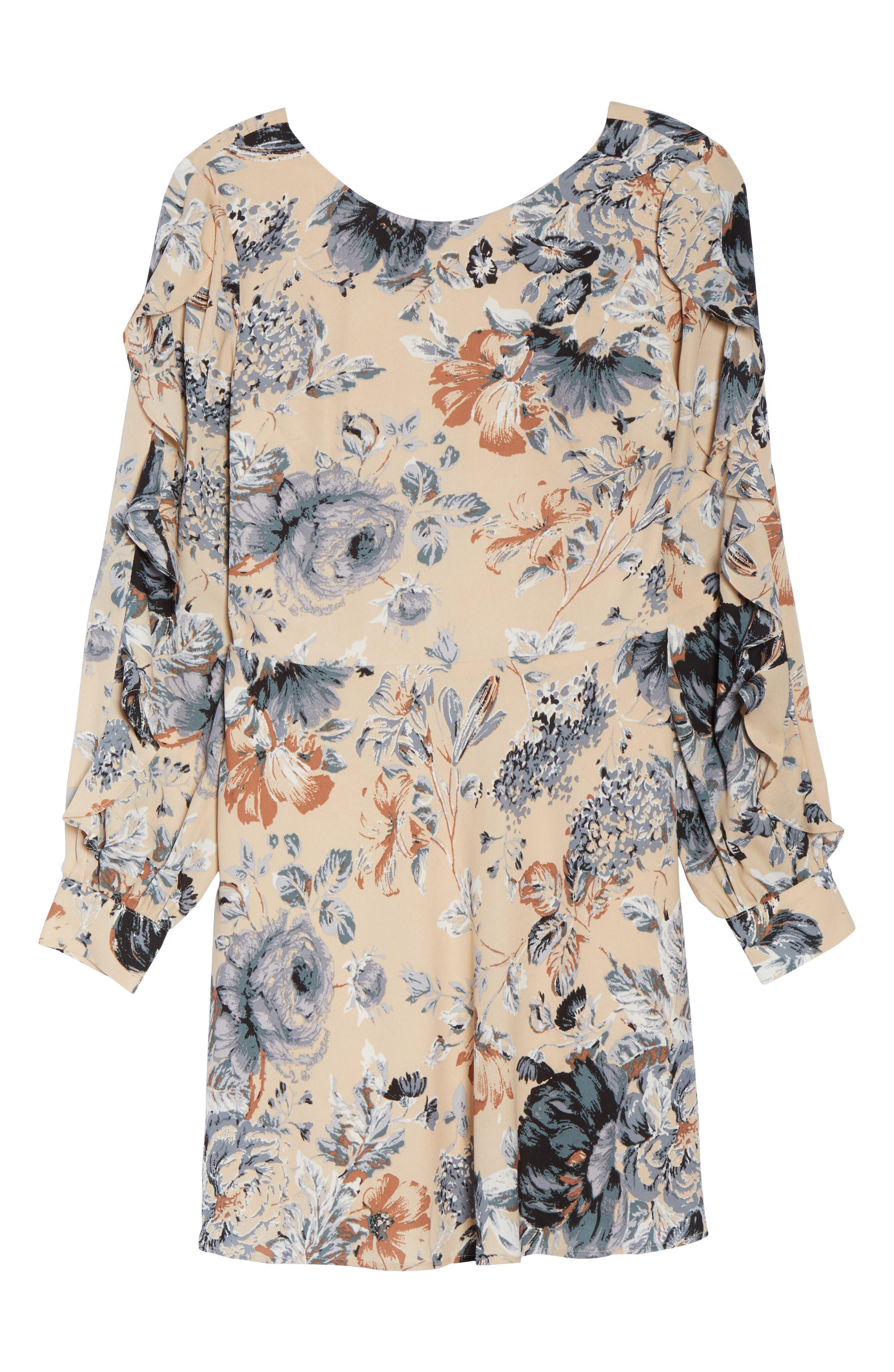Merci Floral Fit & Flare Dress,                             Alternate thumbnail 6, color,                             264