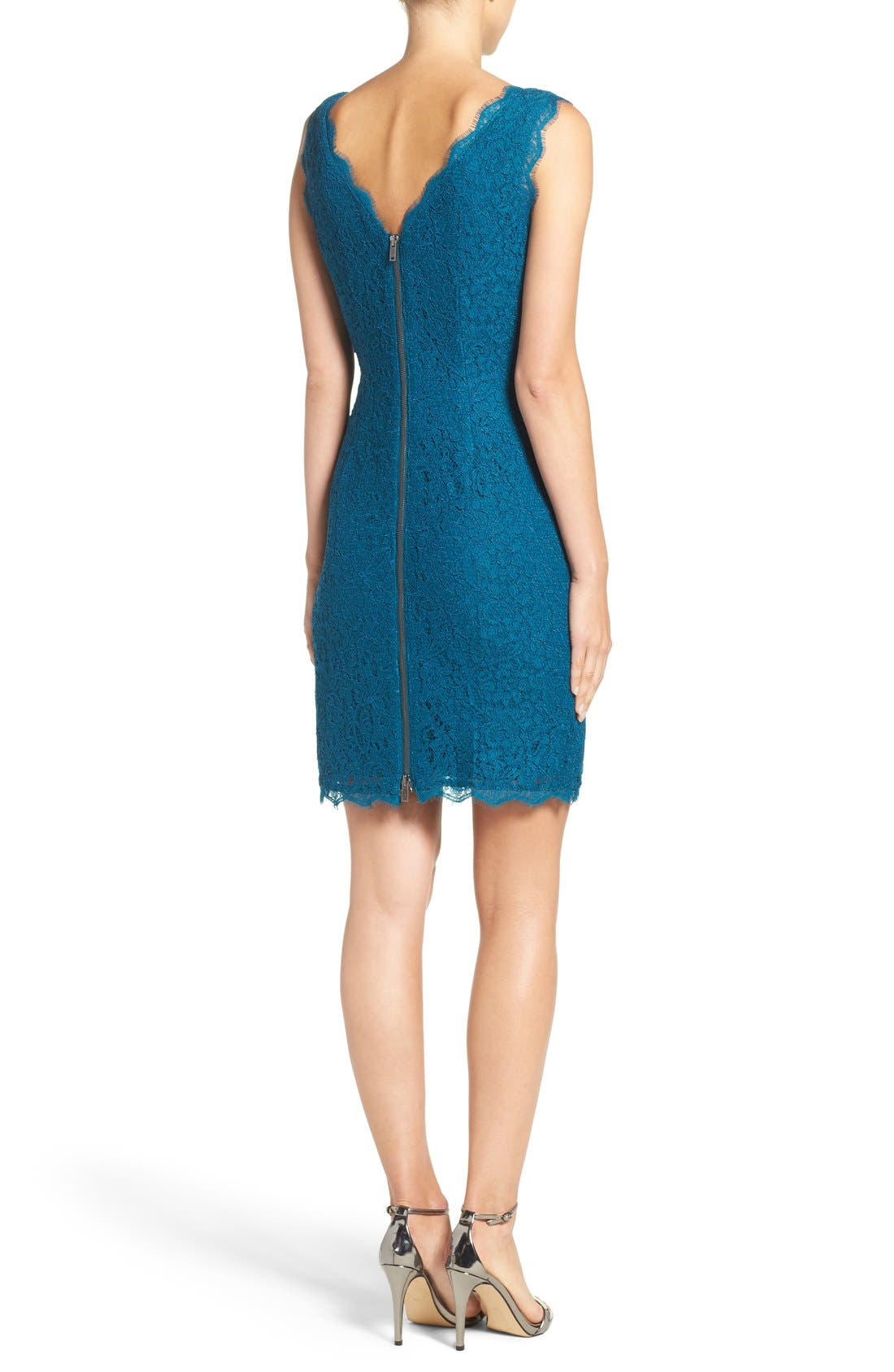 Boatneck Lace Sheath Dress,                             Alternate thumbnail 157, color,