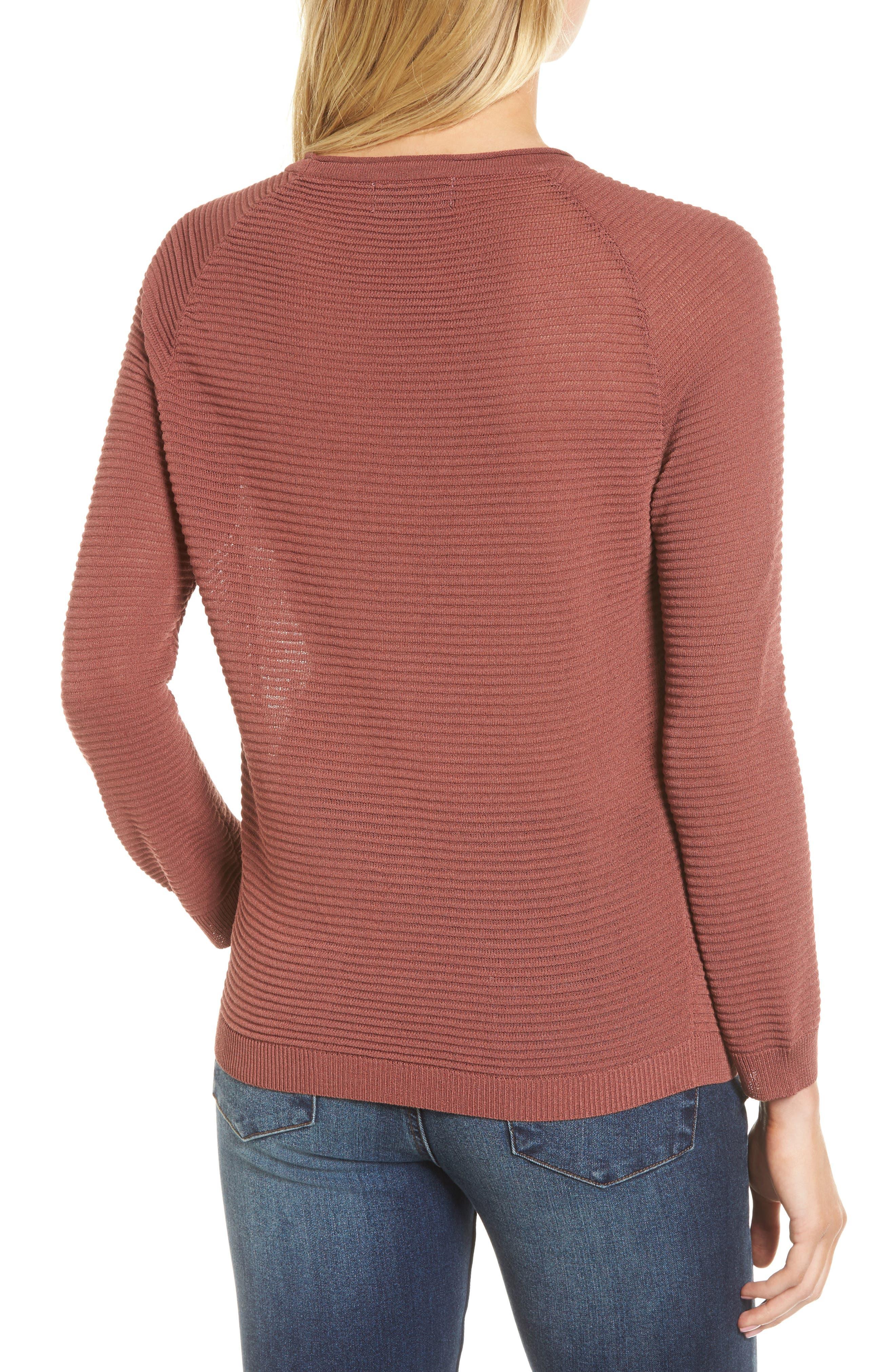 Ribbed Sweatshirt,                             Alternate thumbnail 2, color,                             240