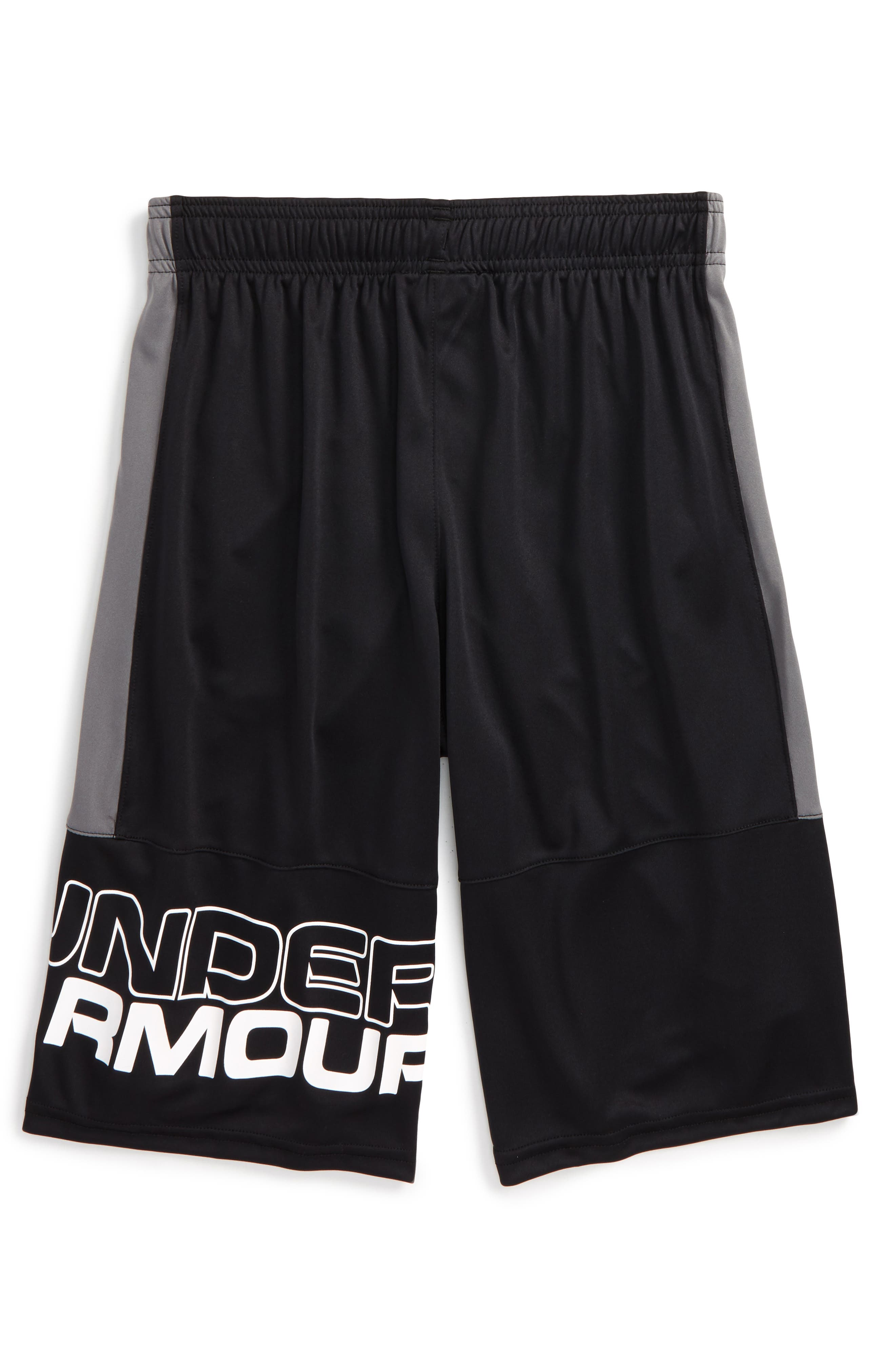 Stunt HeatGear<sup>®</sup> Shorts,                         Main,                         color, BLACK/ GRAPHITE