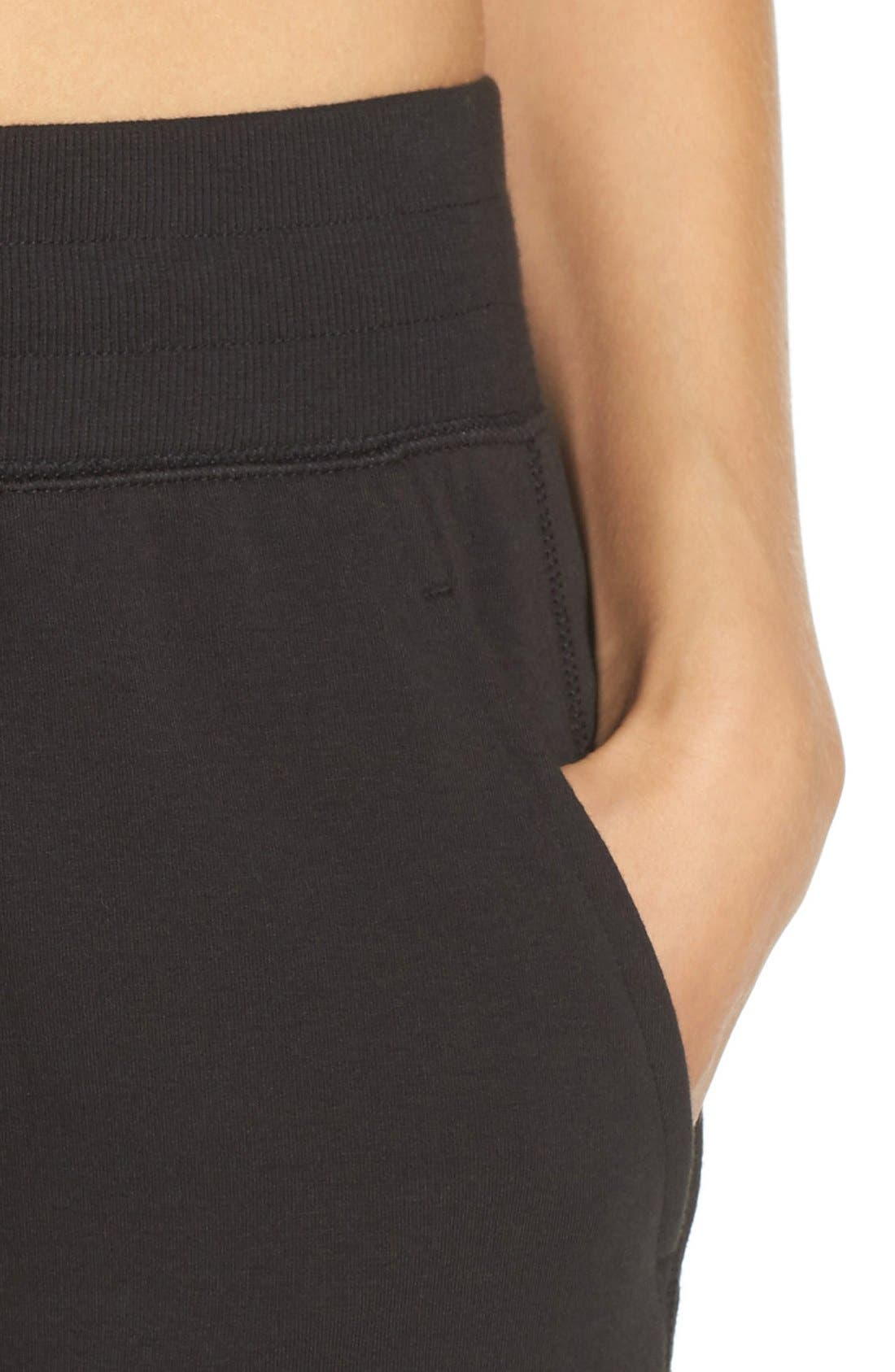 Luxe Lounge Sweatpants,                             Alternate thumbnail 4, color,                             001