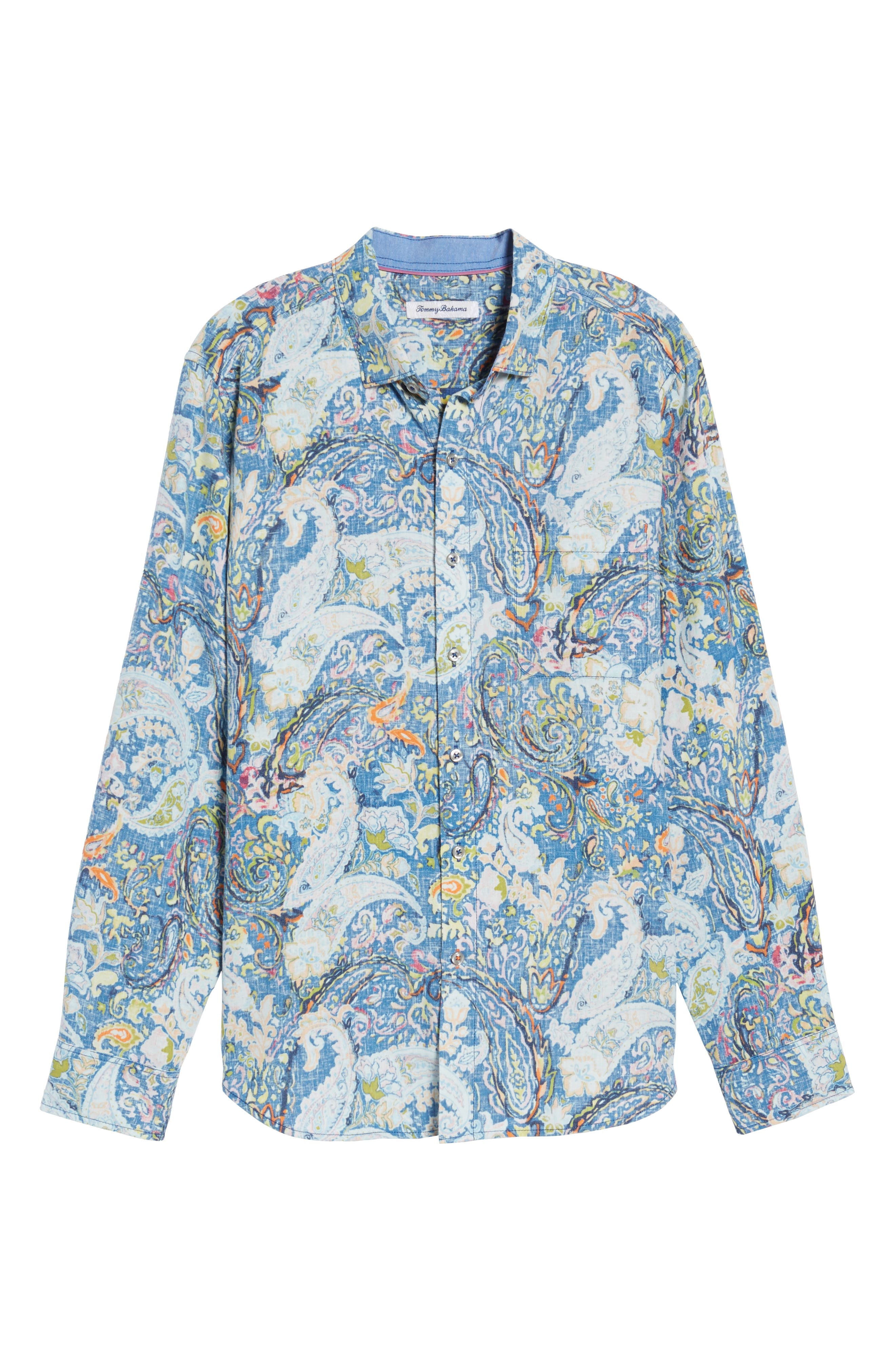Paisley Promenade Sport Shirt,                             Alternate thumbnail 6, color,                             400