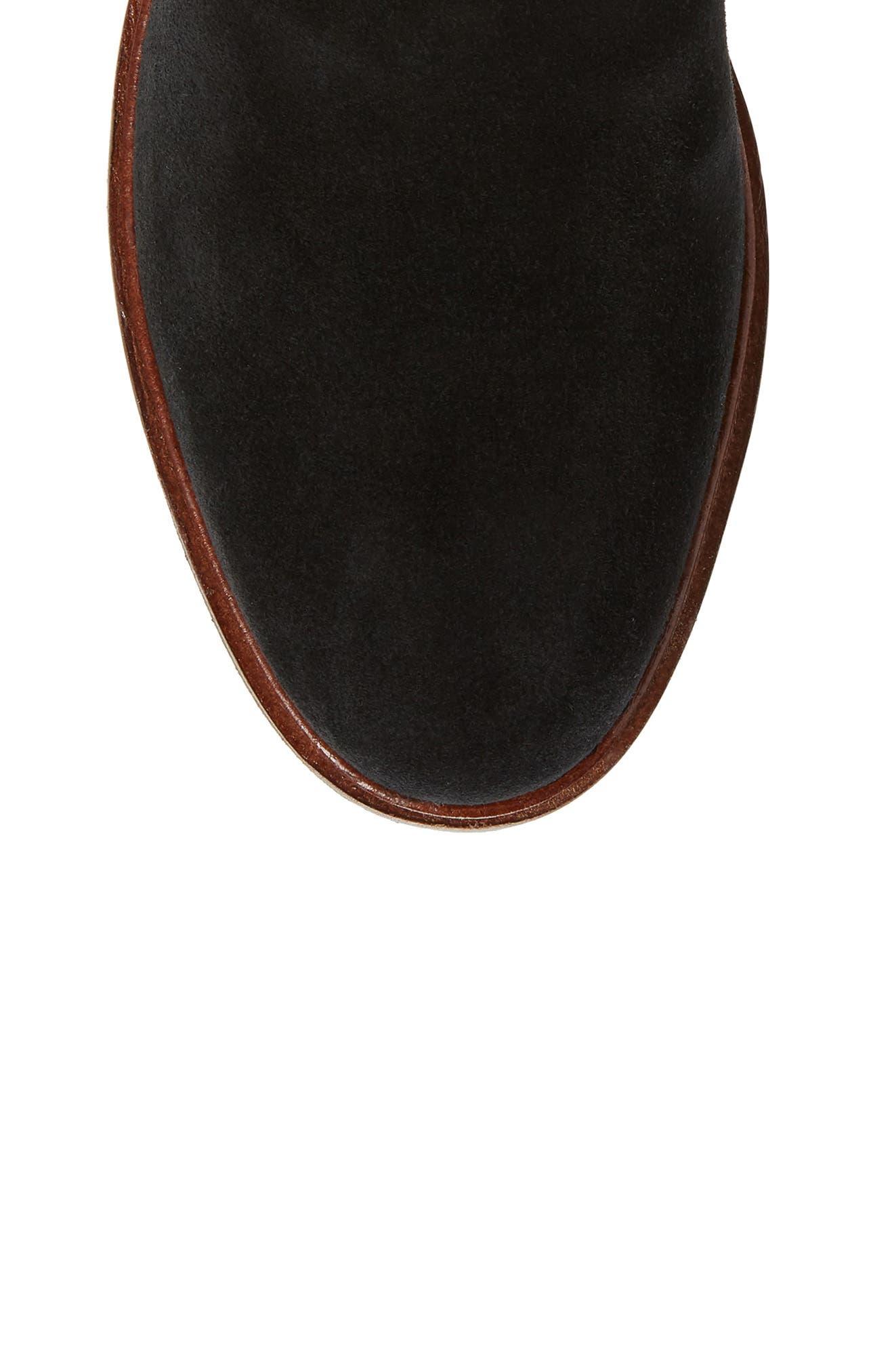 Clarkdale Clad Boot,                             Alternate thumbnail 5, color,                             BLACK SUEDE