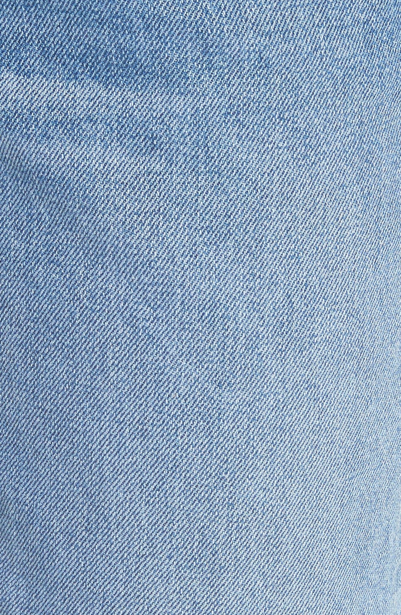 Helena Grommet Detail Straight Leg Crop Jeans,                             Alternate thumbnail 5, color,                             470